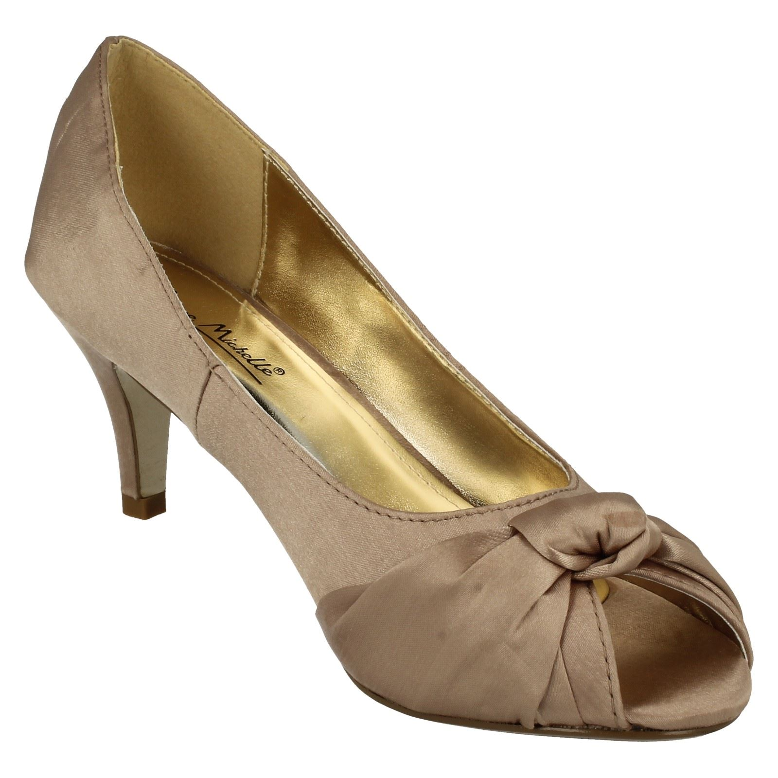 Anne-Michelle-Ladies-Knot-Detail-Peep-Toe-Court-Shoe thumbnail 35