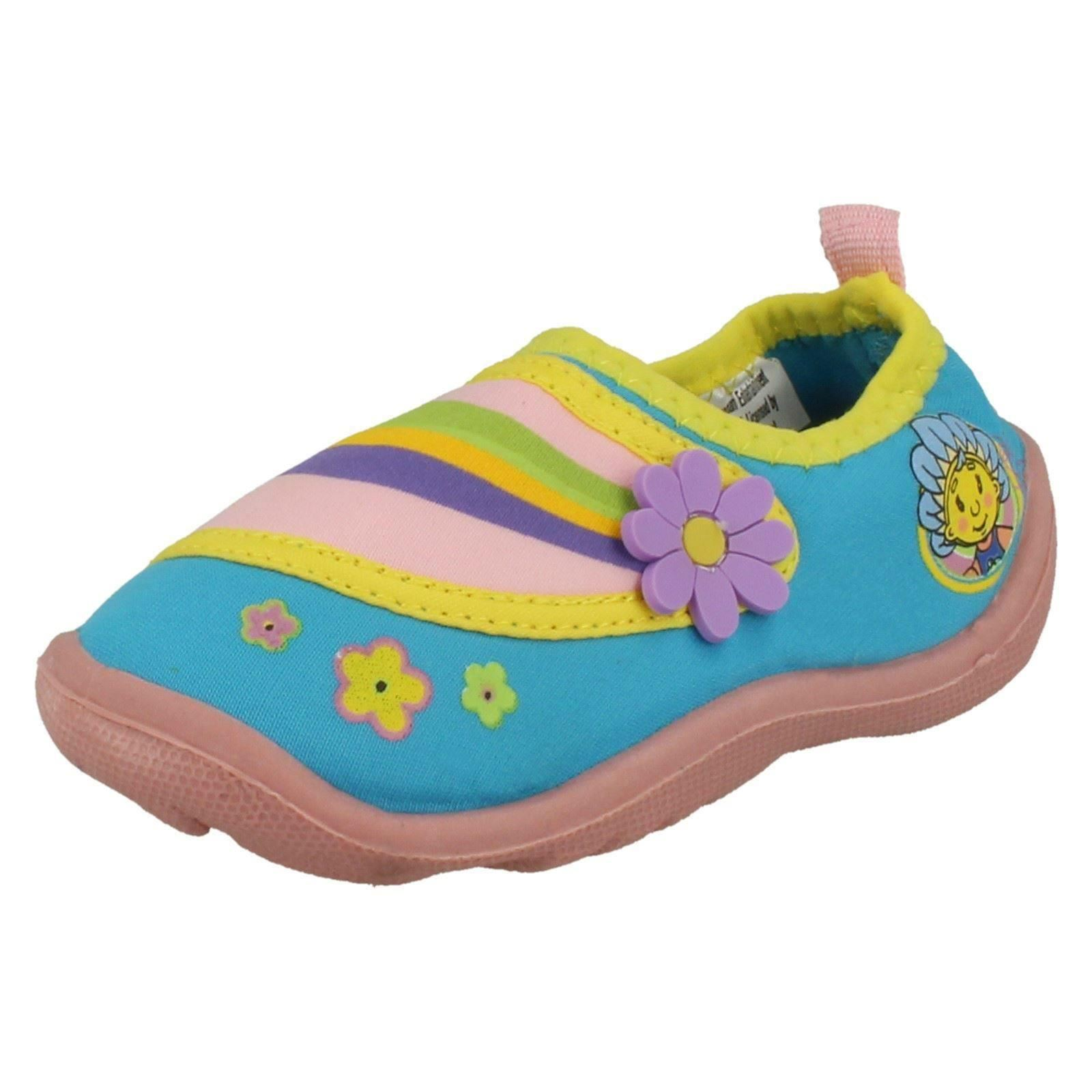 Infant Girls Fifi And The Flower Tots Aqua Style Slip On Beach Shoes