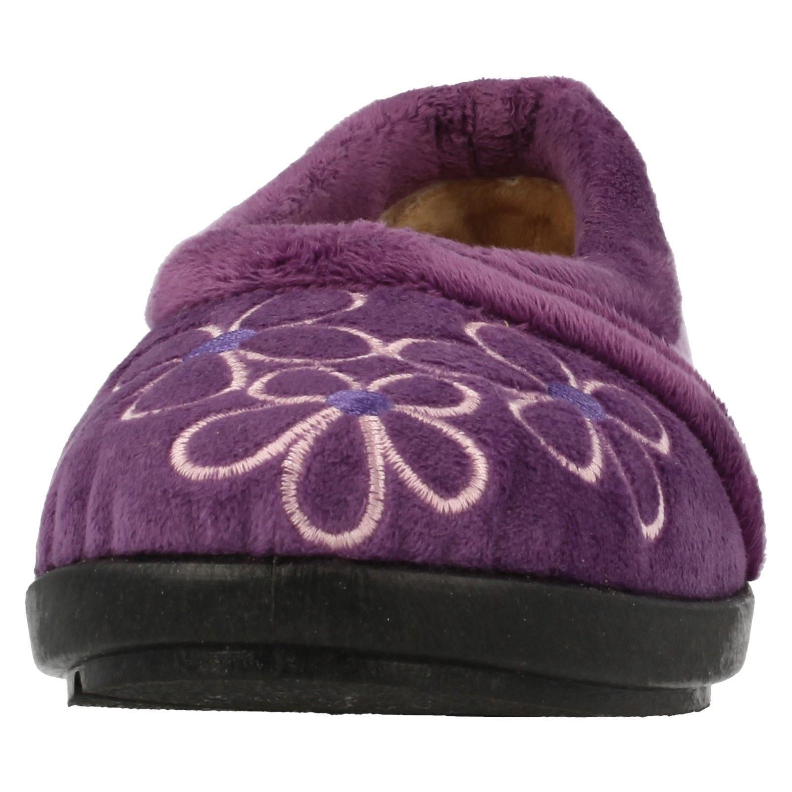 Damas Flor Estampado Zapatillas Primula Easy B