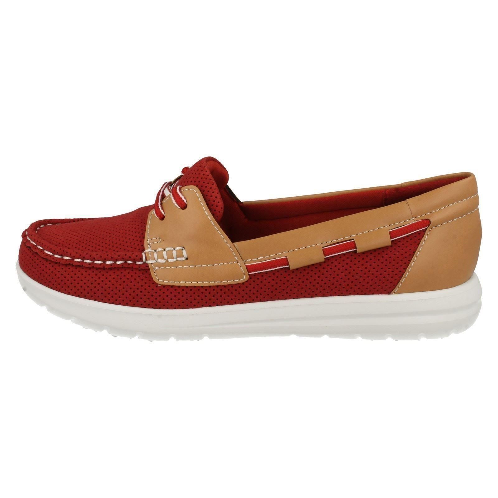 Clarks Red Vista Deck Cloud Shoes Ladies By Steppers Jocolin wgaqETW1