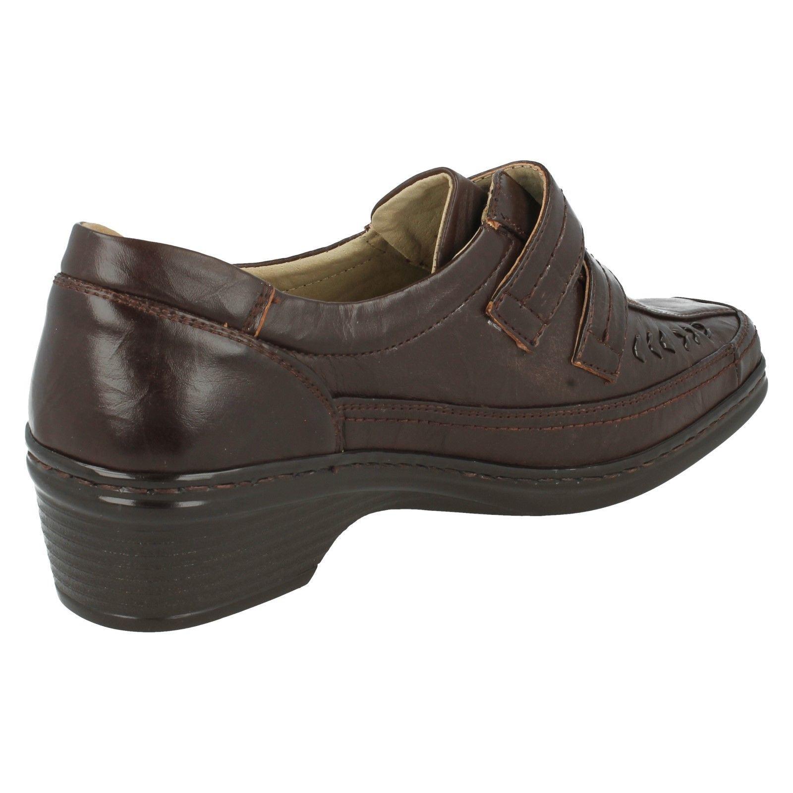 Señoras Eaze Cuña Baja Informal Zapatos sintético * F 3051 *