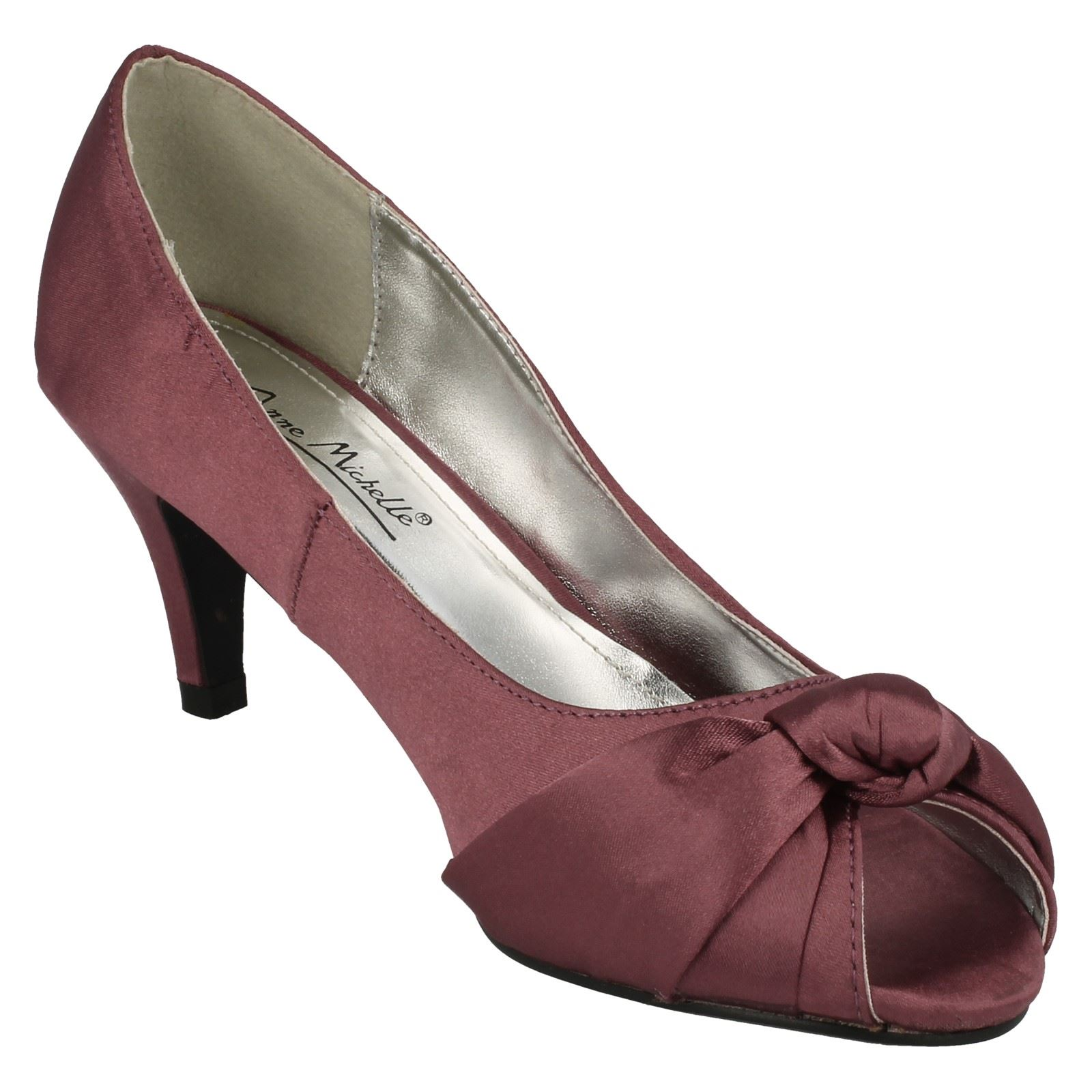 Anne-Michelle-Ladies-Knot-Detail-Peep-Toe-Court-Shoe thumbnail 26