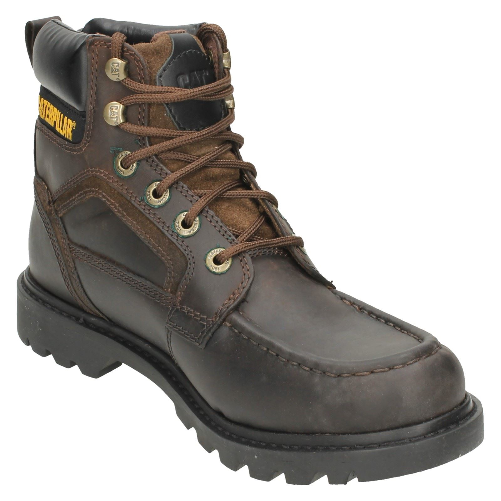 mens caterpillar leather lace up work boot 39 transpose 39 ebay. Black Bedroom Furniture Sets. Home Design Ideas