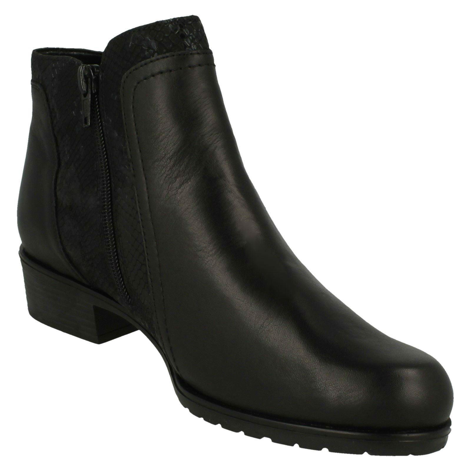 Mujer botas Cremallera-remonte al Tobillo Cremallera-remonte botas D6870 433e24