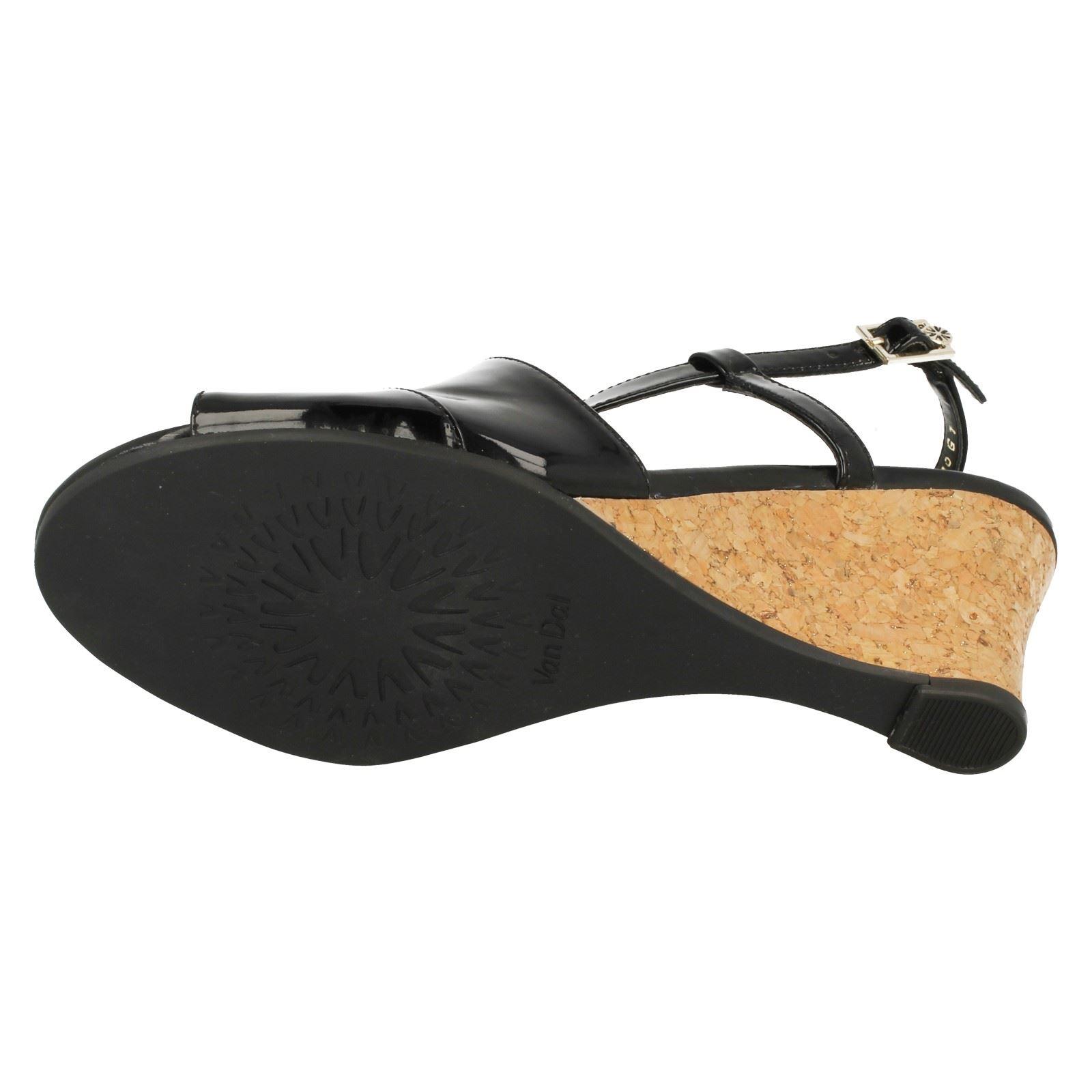 Ladies-Van-Dal-Cross-Strap-Wedged-Sandal-Allora thumbnail 17