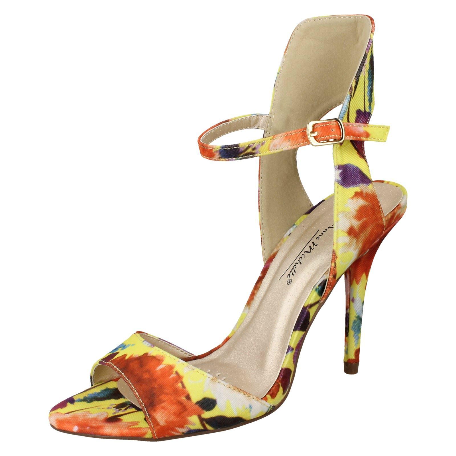 Anne Michelle Ammortizzato floreale sandali con cinturino