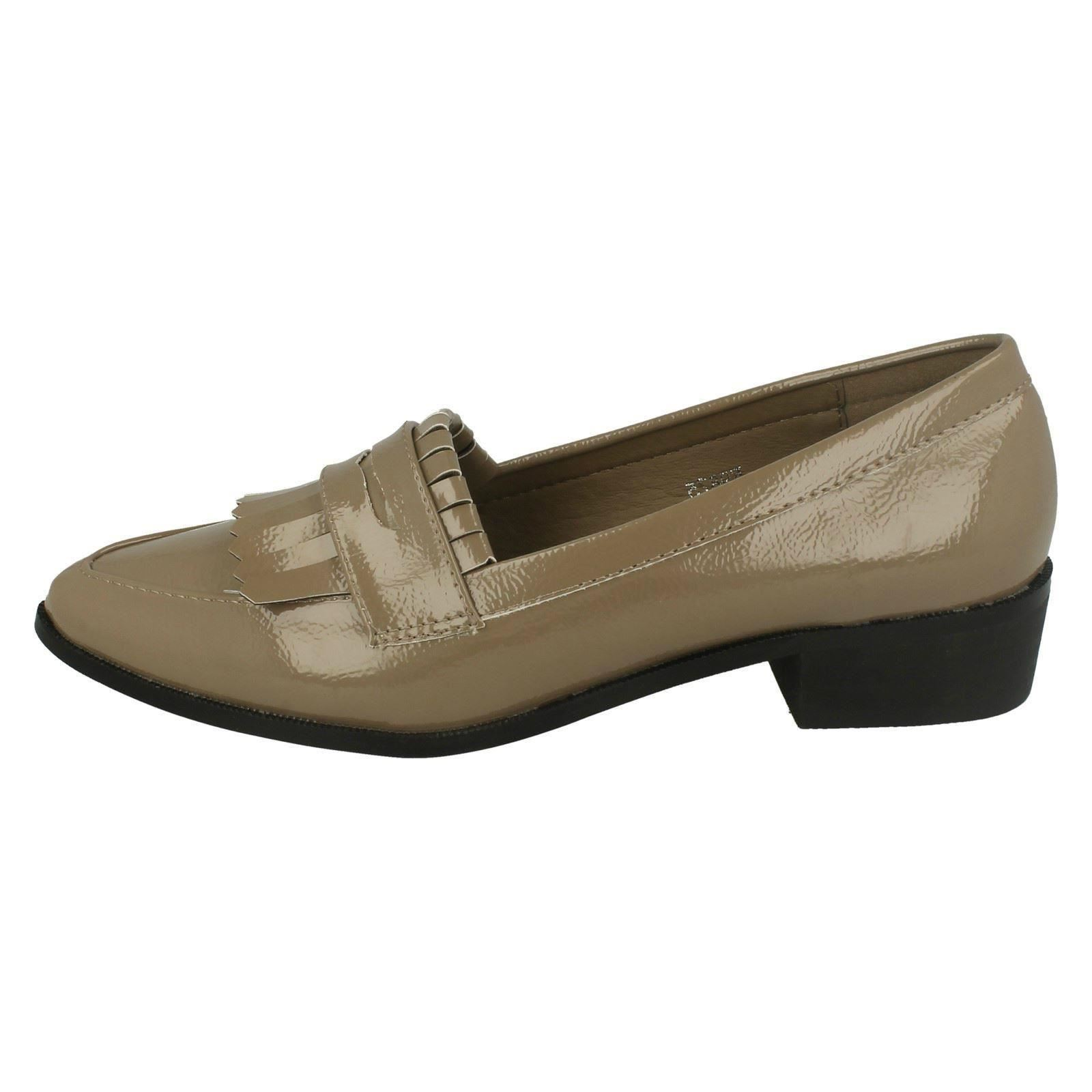 Halbschuhe & Ballerinas Damenschuhe Ladies Spot On Pointed Toe Loafers