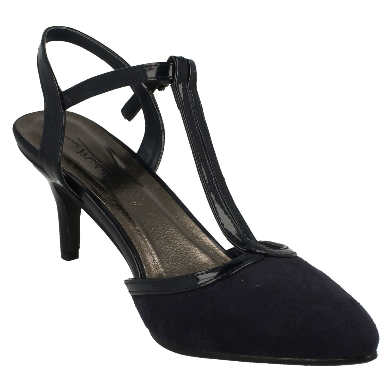 Anne-Michelle-Ladies-Mid-Heel-T-Bar-Court-Shoe thumbnail 17