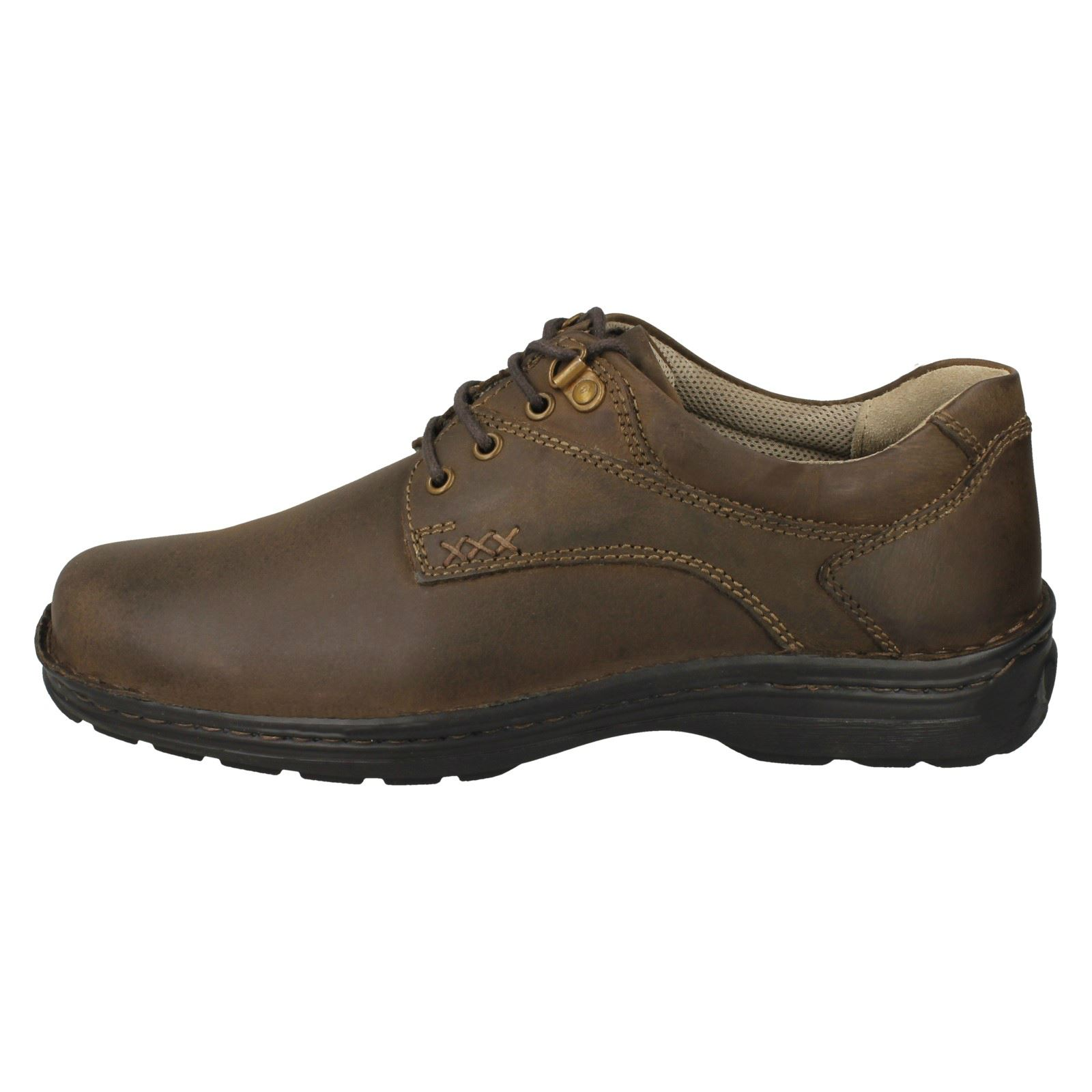 Herren Hush Puppies Leder Up Lace Up Leder Fastening Casual Schuhes - 'Geography Lace' eb2543