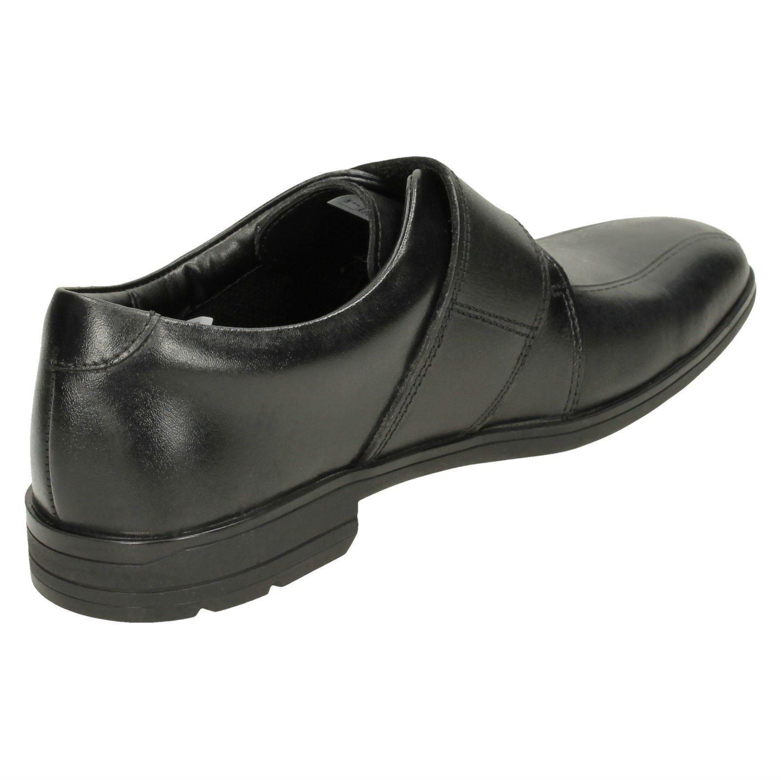 BNIB Clarks Bootleg Boys Willis Time Black Leather School Shoes