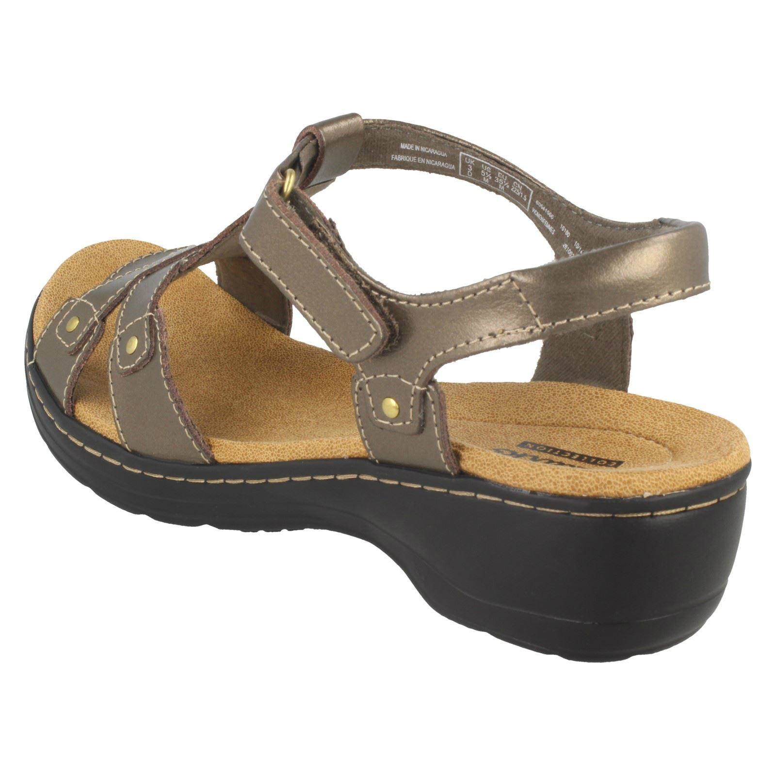 Hayla Pewter Ladies Clarks grey Flute Sandals AZ4zvqf