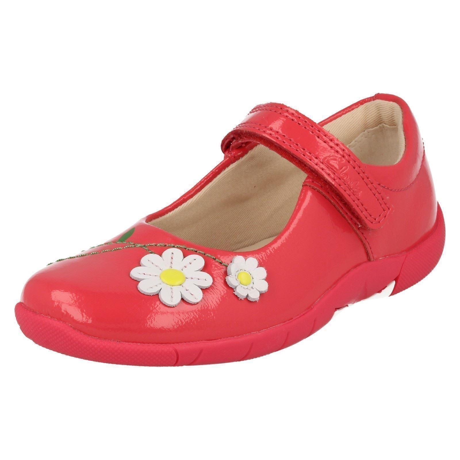 Girls Clarks Hook & Loop Rounded Toe Casual Shoes Binnie Jam
