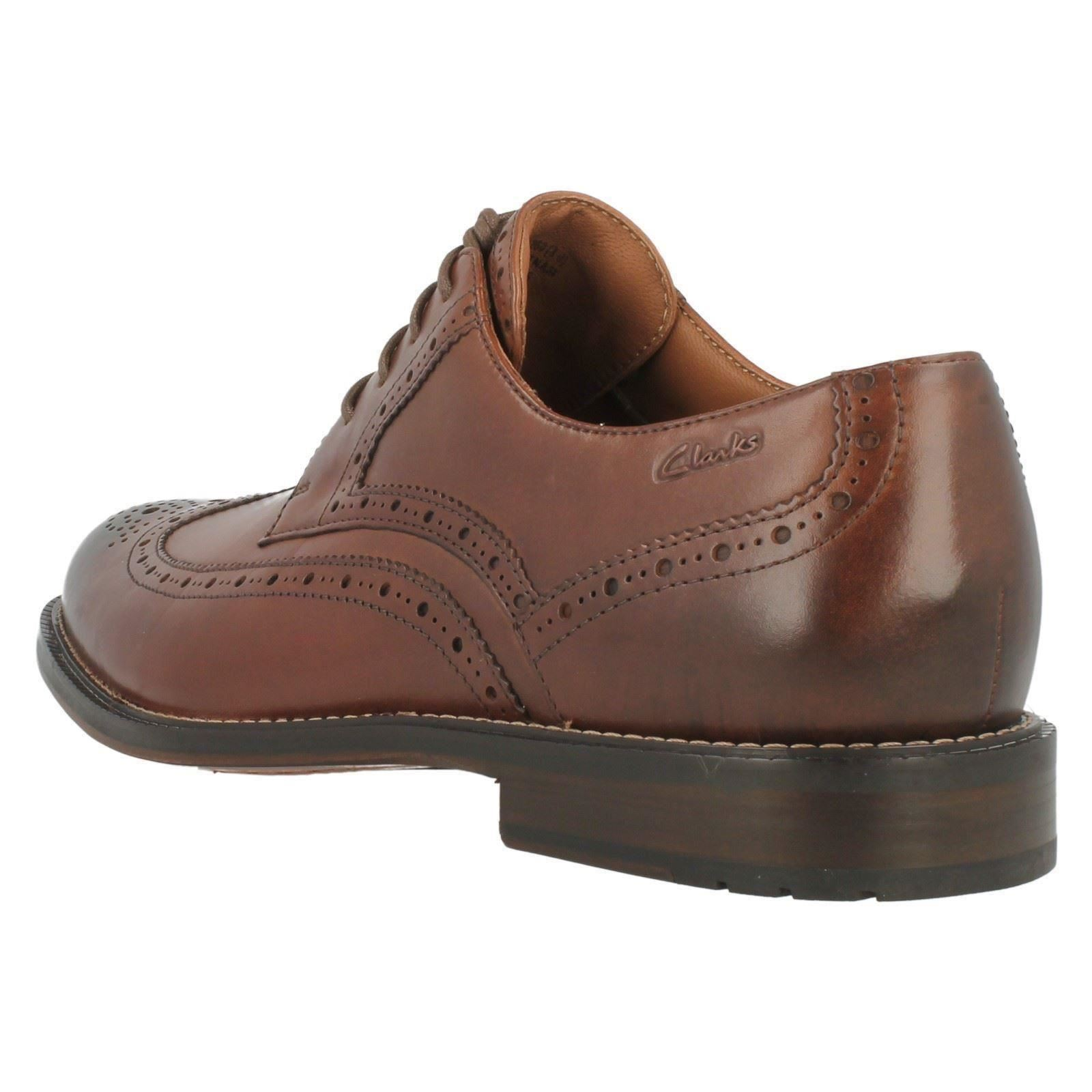 Mens Clarks Formal Lace Up Brogue Shoes Dorset Limit