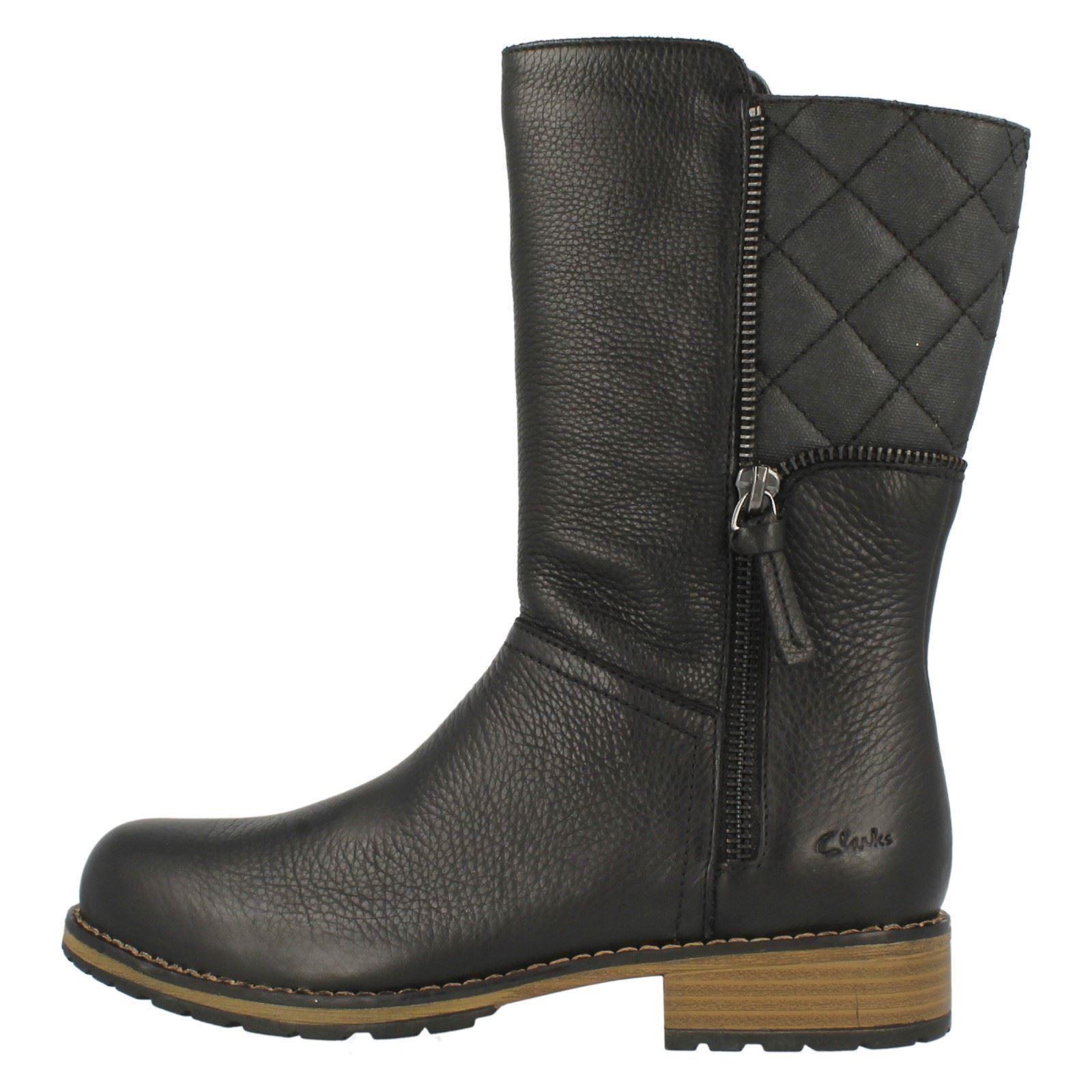 Boots Calf Clarks Black Heidi' Mid Niñas 'kelpie f1xq7t76w