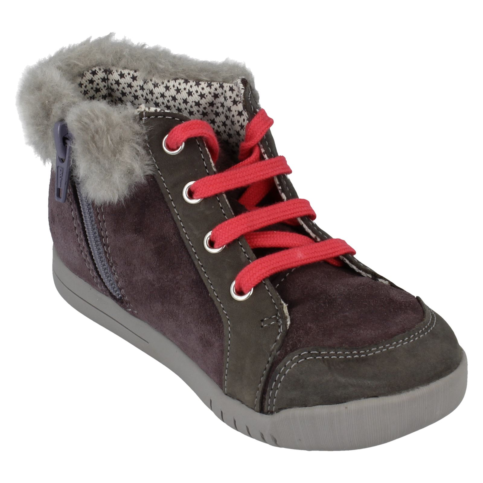 Girls Clarks Buckle Casual Shoes Crazy Dot