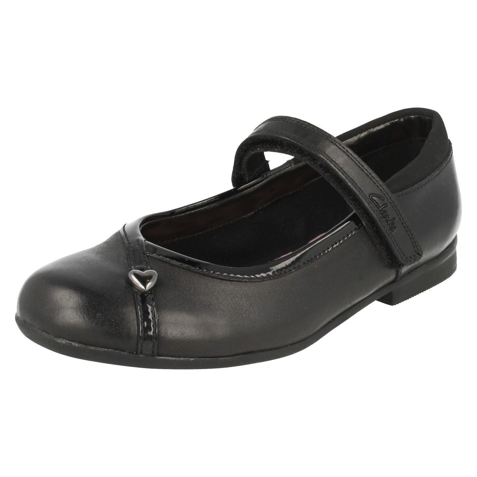 Girls Clarks Formal School Shoes Dolly Babe UK 10 Infant Black