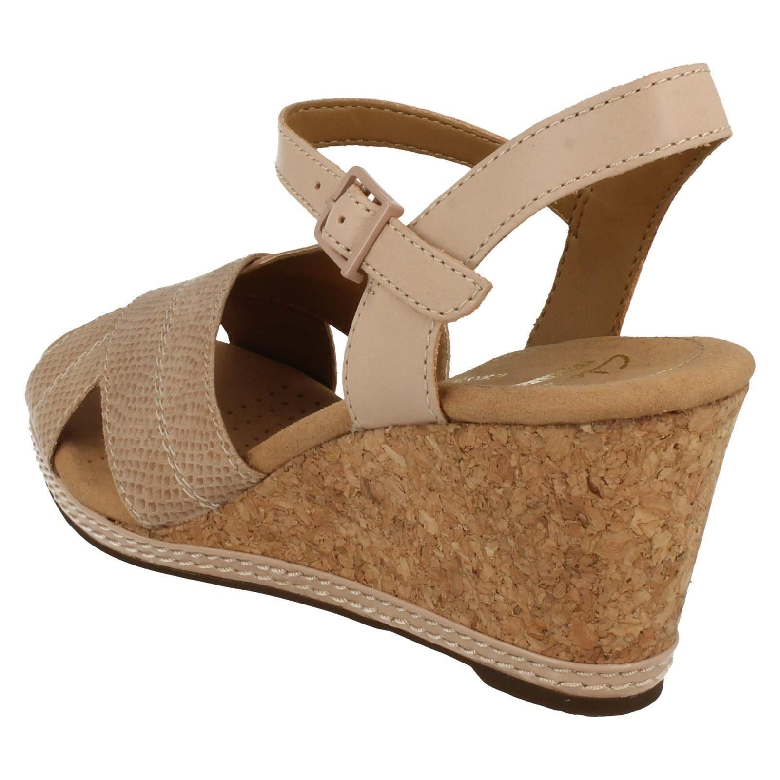 ff7a35864ae Ladies-Clarks-Helio-Latitude-Open-Toe-Wedge-Sandals thumbnail