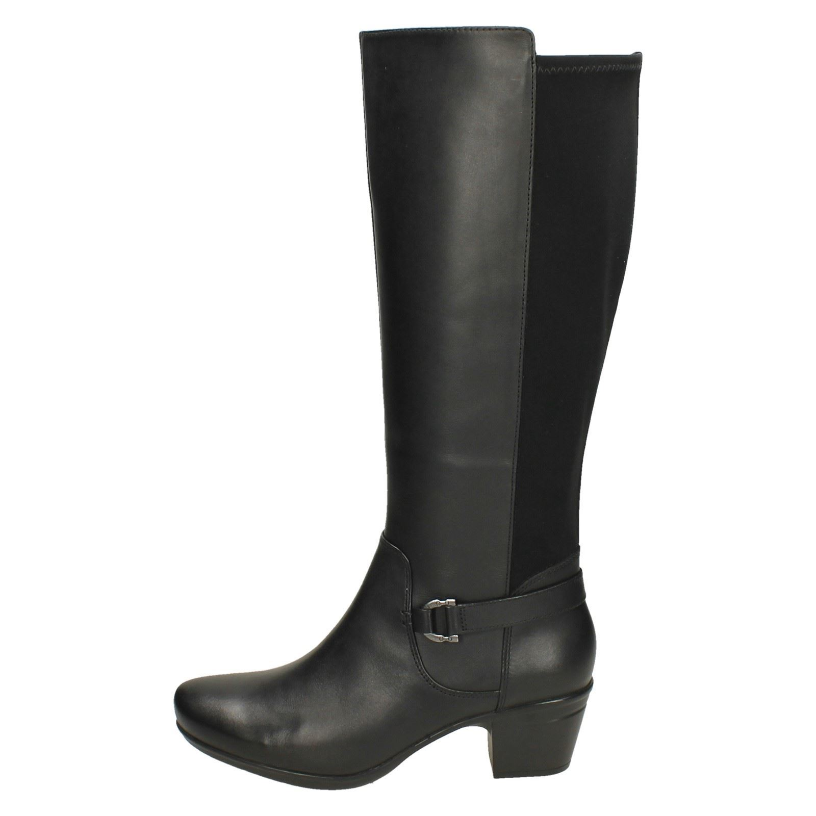 10204f33fc5 Ladies-Clarks-Heeled-Knee-High-Boots-Emslie-March thumbnail