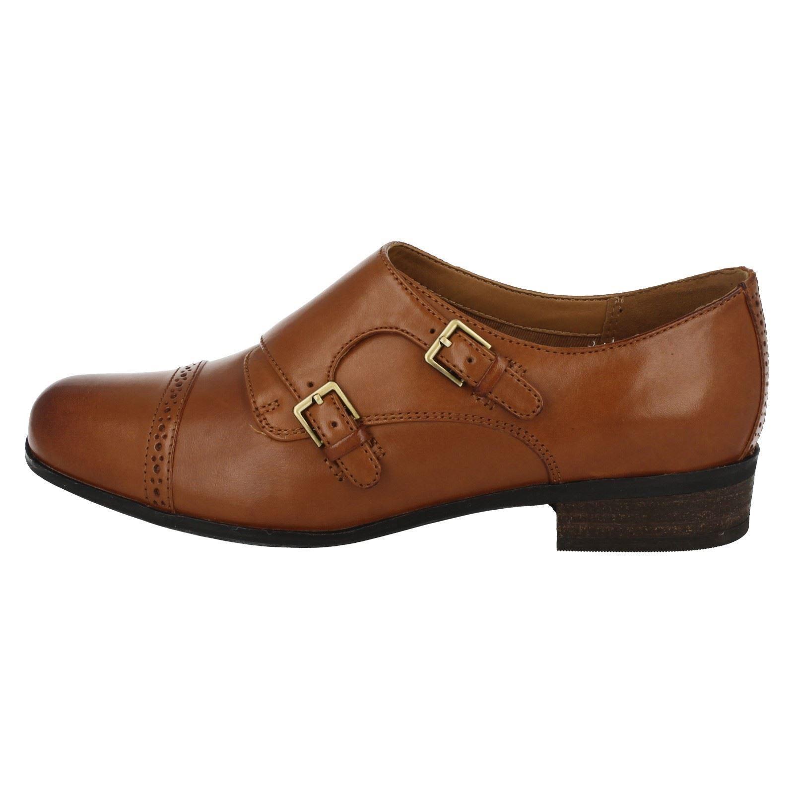Zapatos para con hebillas Dark mujer Park Tan marrón Hamble Clarks rAxngUr