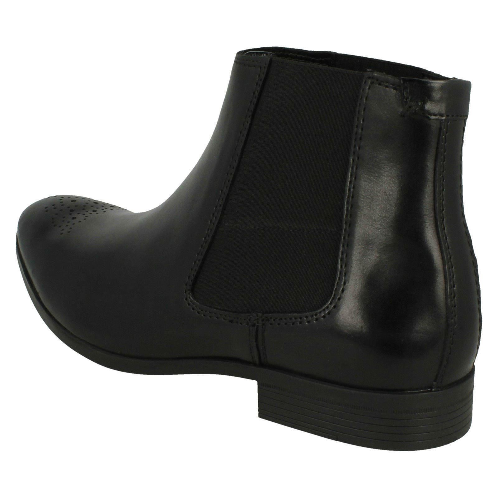 Details about Mens Clarks 'Gilmore chelsea' Black Leather Smart Pull On Chelsea Boots G Fit