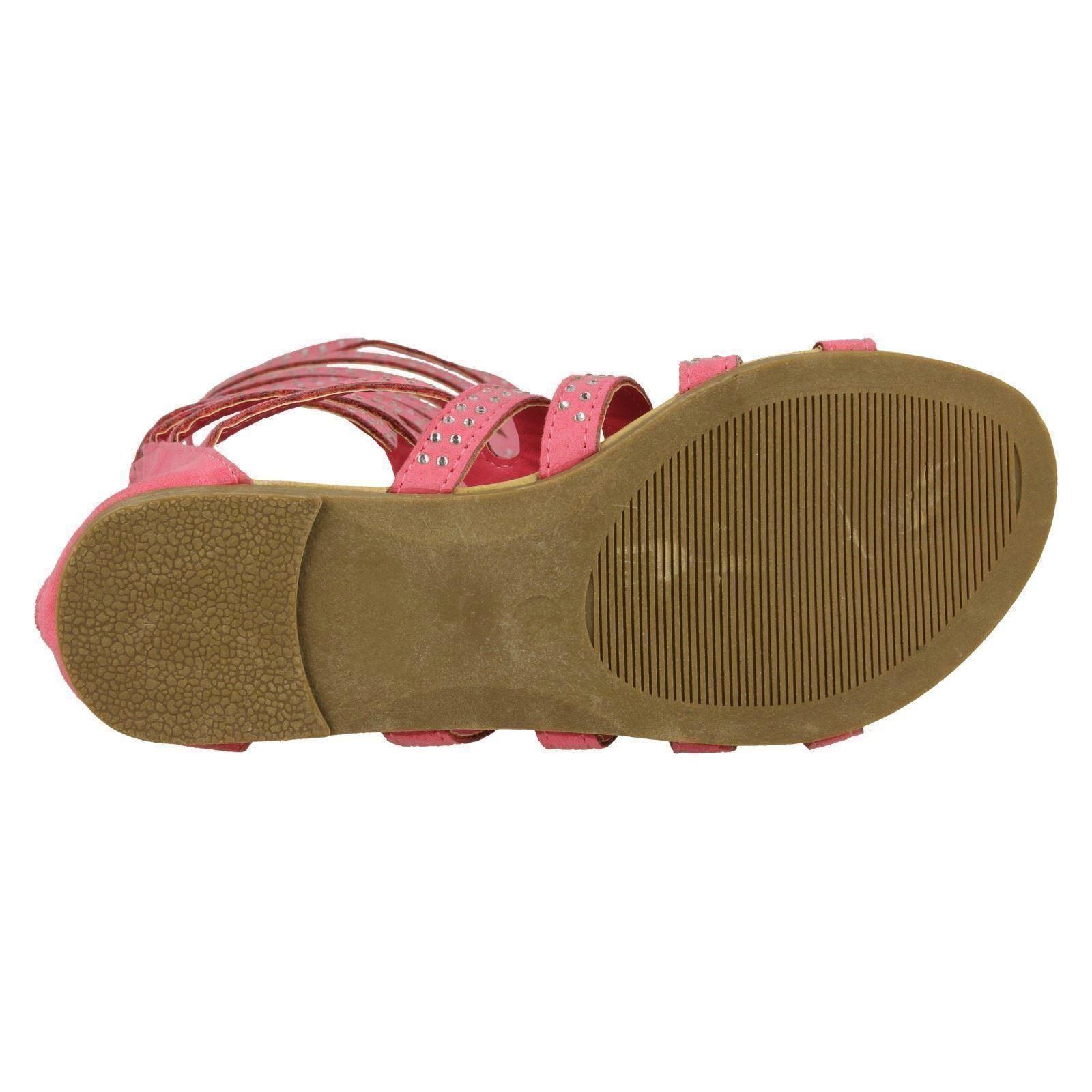 Girls Spot On Knee High Gladiator Sandals - H0222