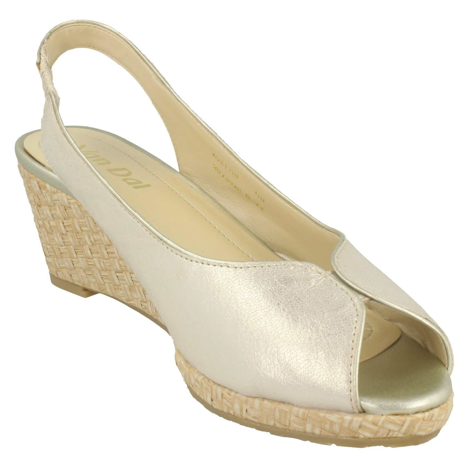 Ladies-Van-Dal-Leather-Wedge-Sandal-With-Woven-Detail-Avalon thumbnail 15