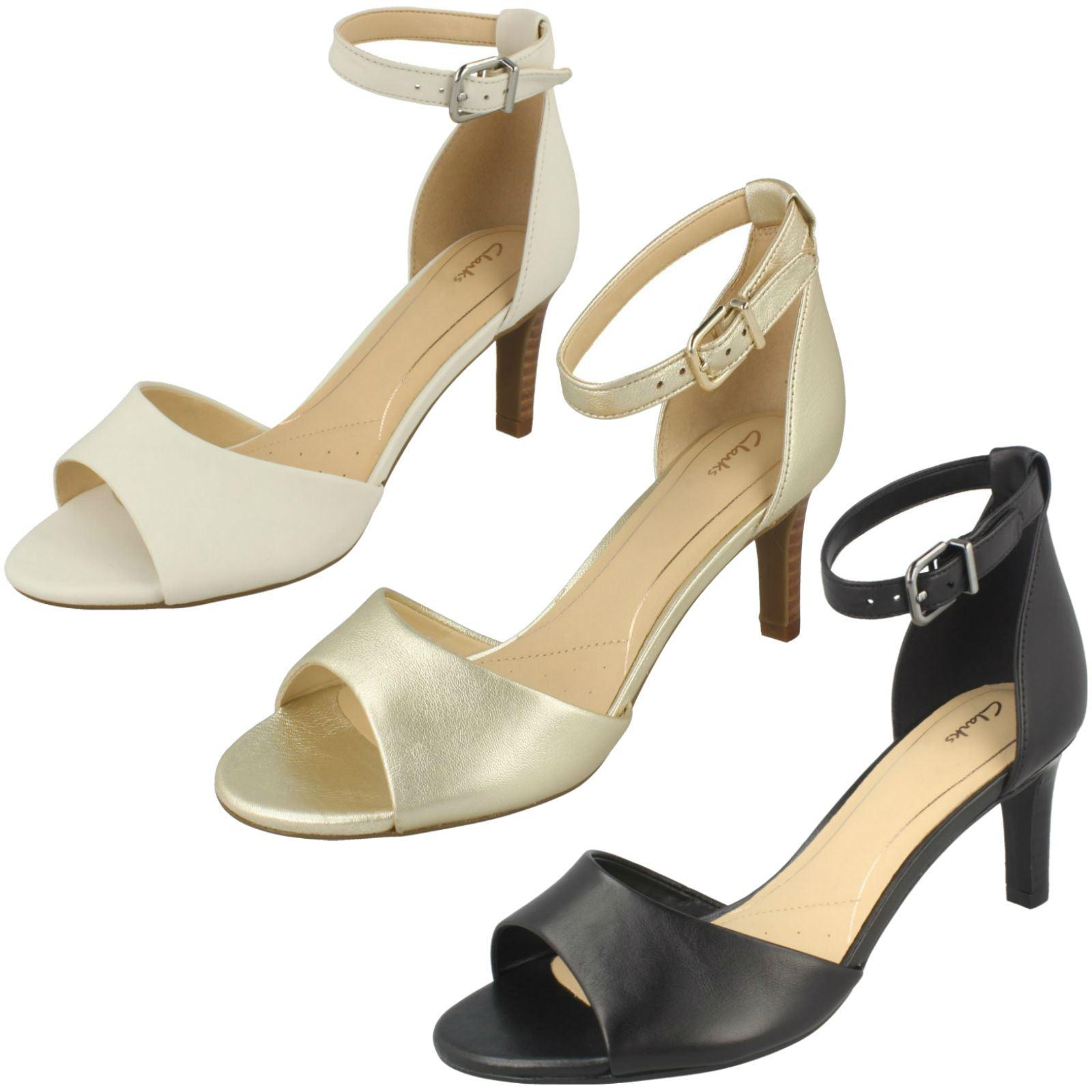 8b2fbf74a7cb22 Details about Ladies Clarks Elegant Heeled Sandals - Laureti Grace