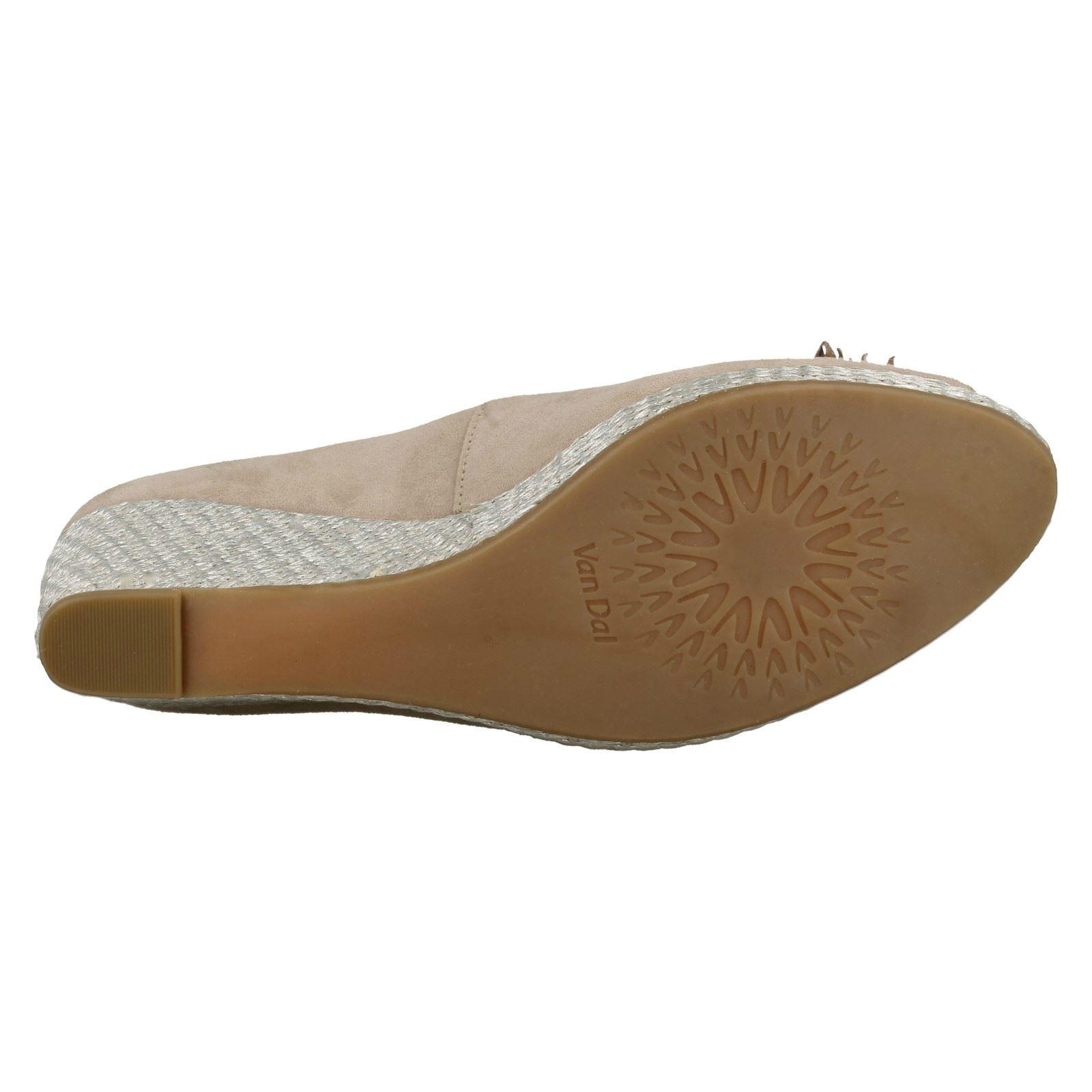 Ladies Ladies Ladies Van Dal Zeppa Peep Toes-Cacao 67cd98
