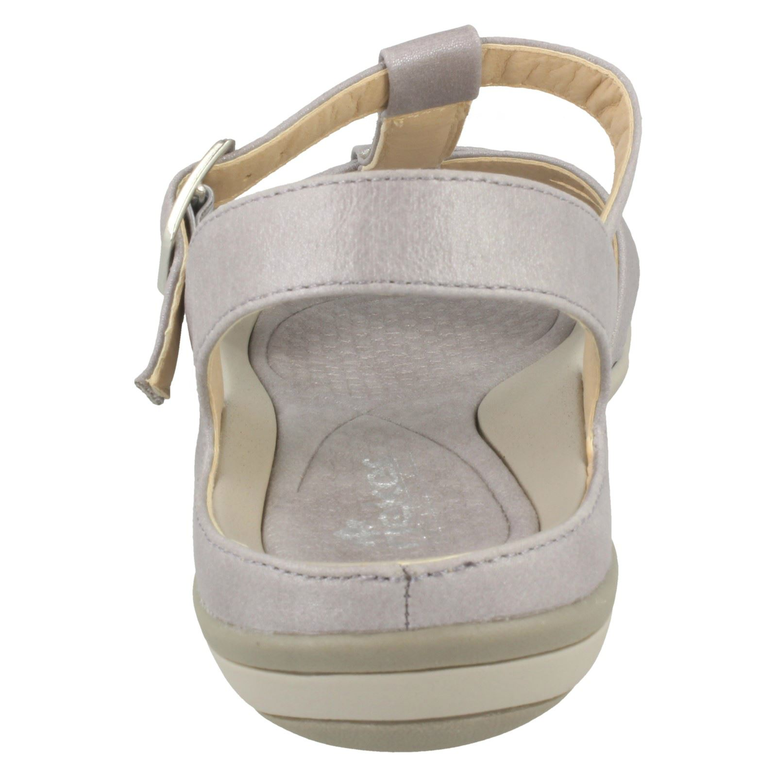 Details about Ladies Rieker Open Toe Buckle Fastening Slingback Summer Sandals 'V9463'