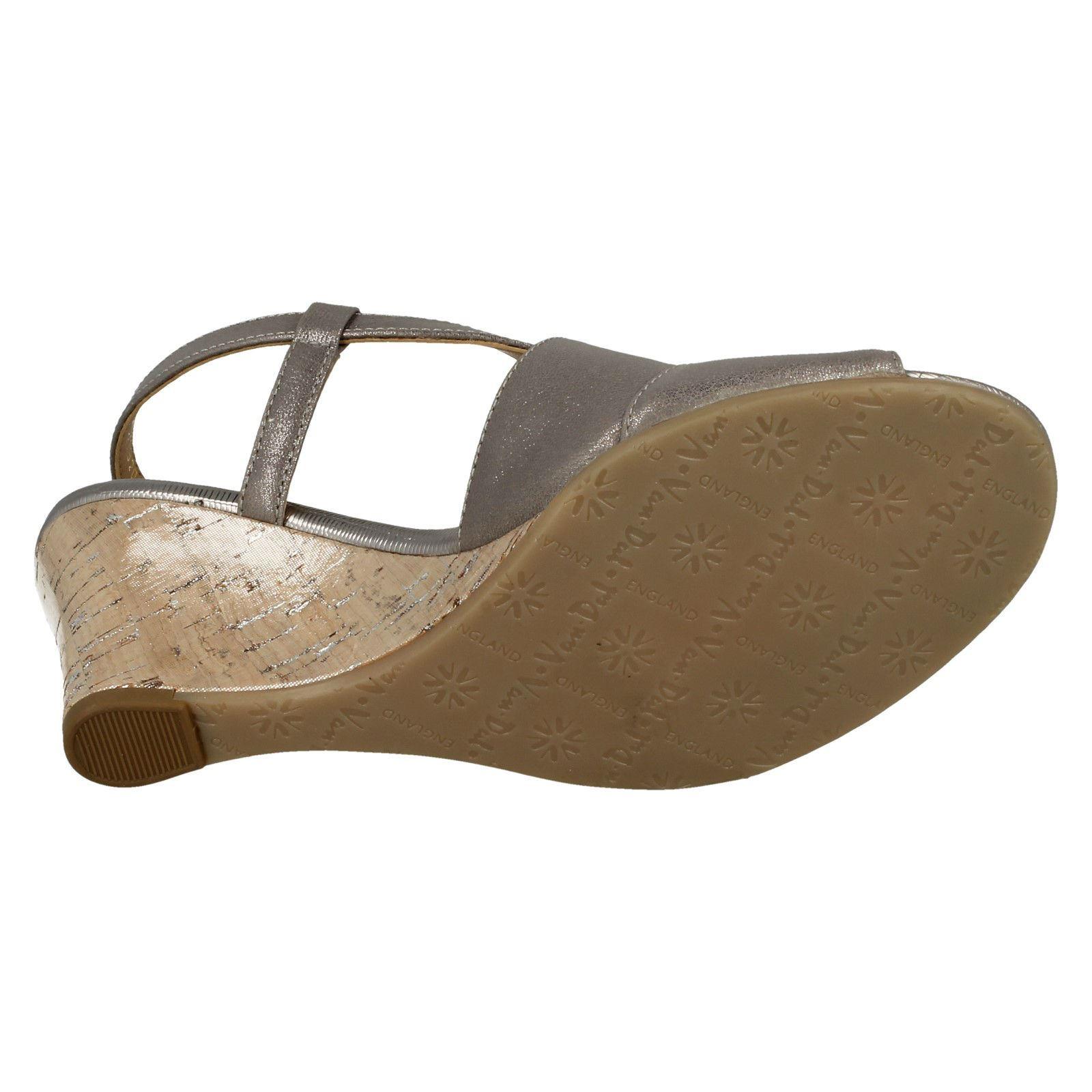 Ladies-Van-Dal-Cross-Strap-Wedged-Sandal-Allora thumbnail 25