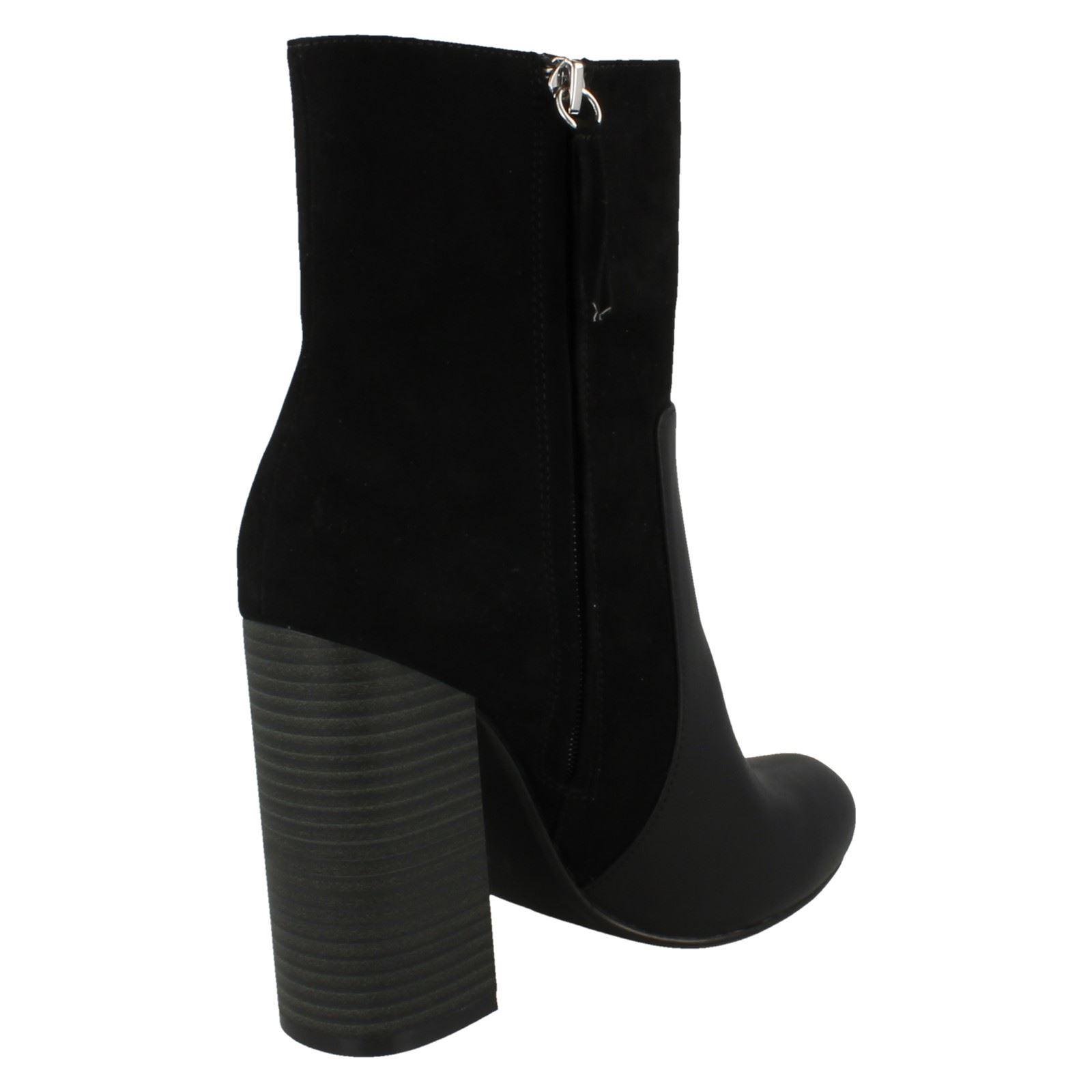 ANNE MICHELLE F5R0690 Ladies Burgundy Glitter Ankle Boot