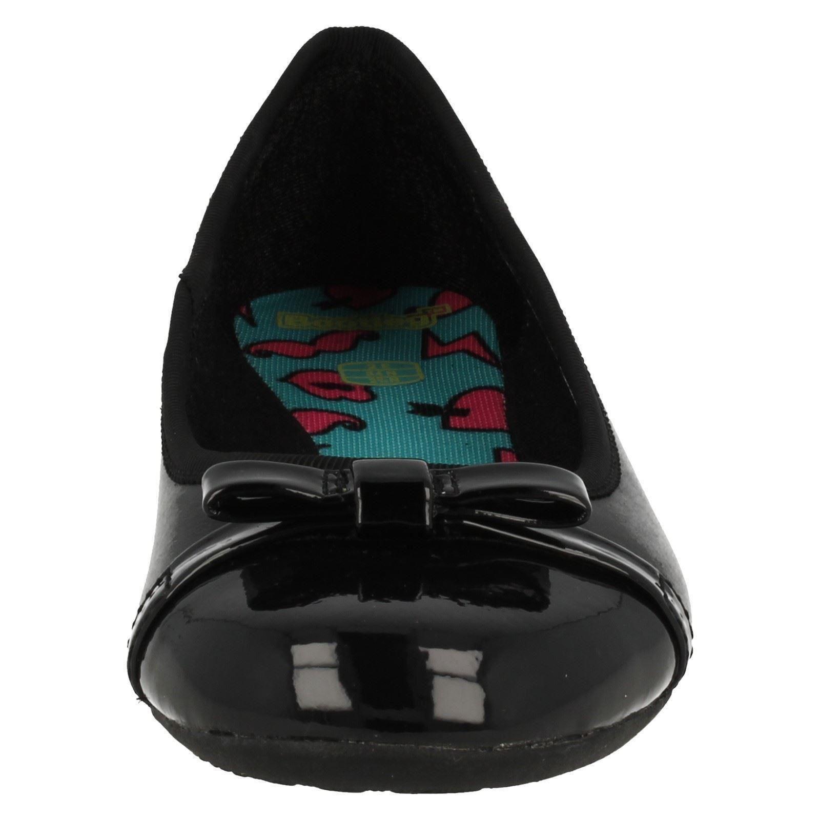 Clarks Tizz Niñas zapatos Fizz Bootleg Por negro School xHHptEn