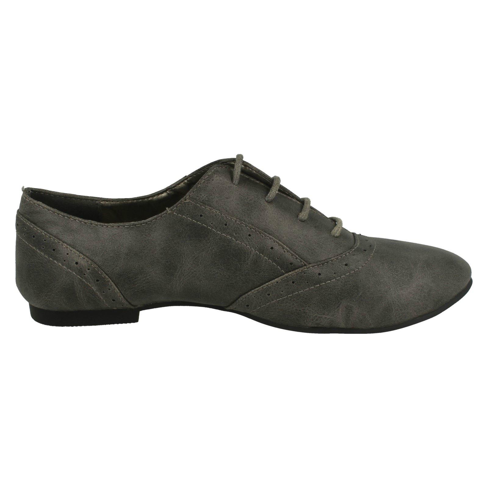 Señoras Encaje Estilo Zapato Plano mancha en