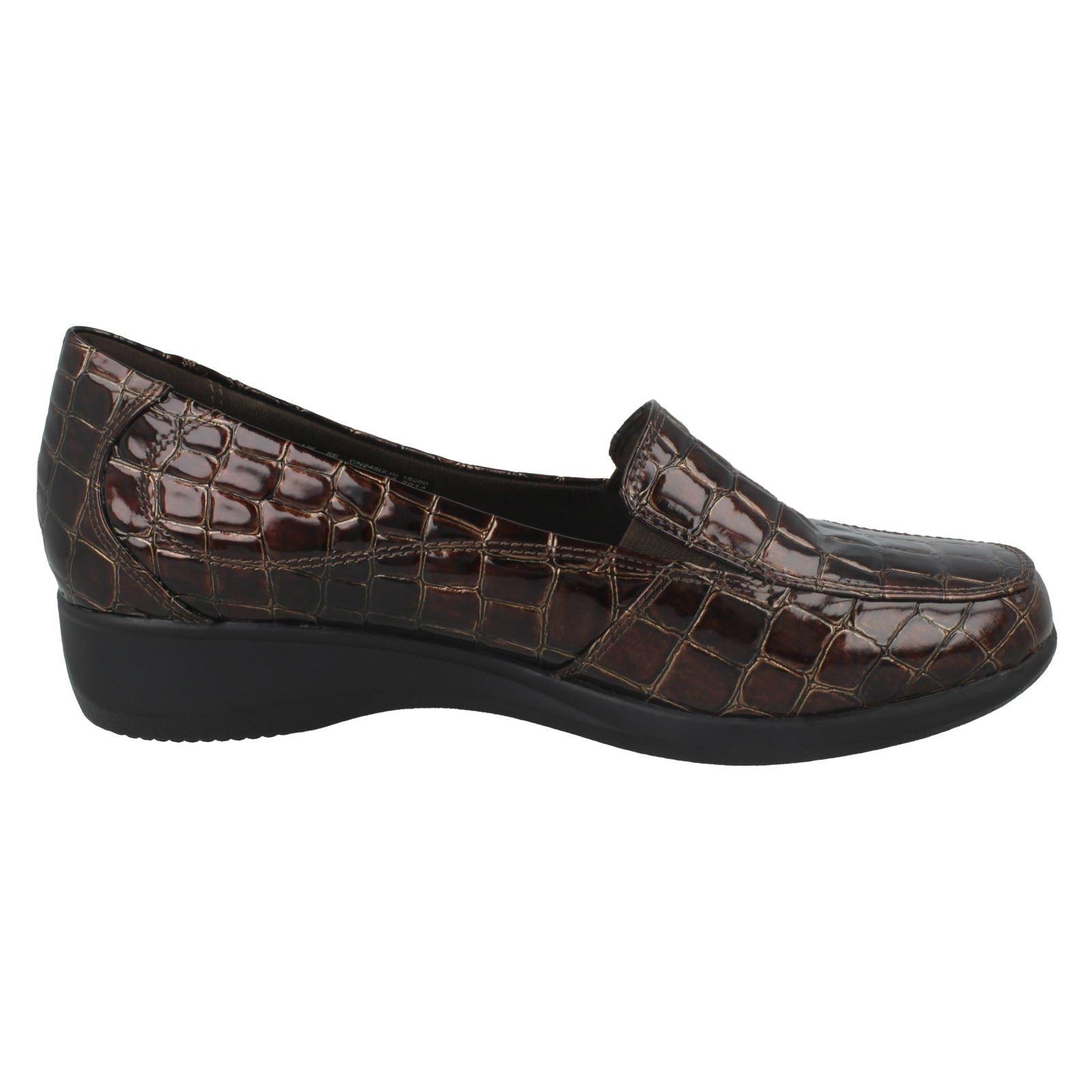 Ladies Clarks Slip On Shoes /'Gael Angora/'
