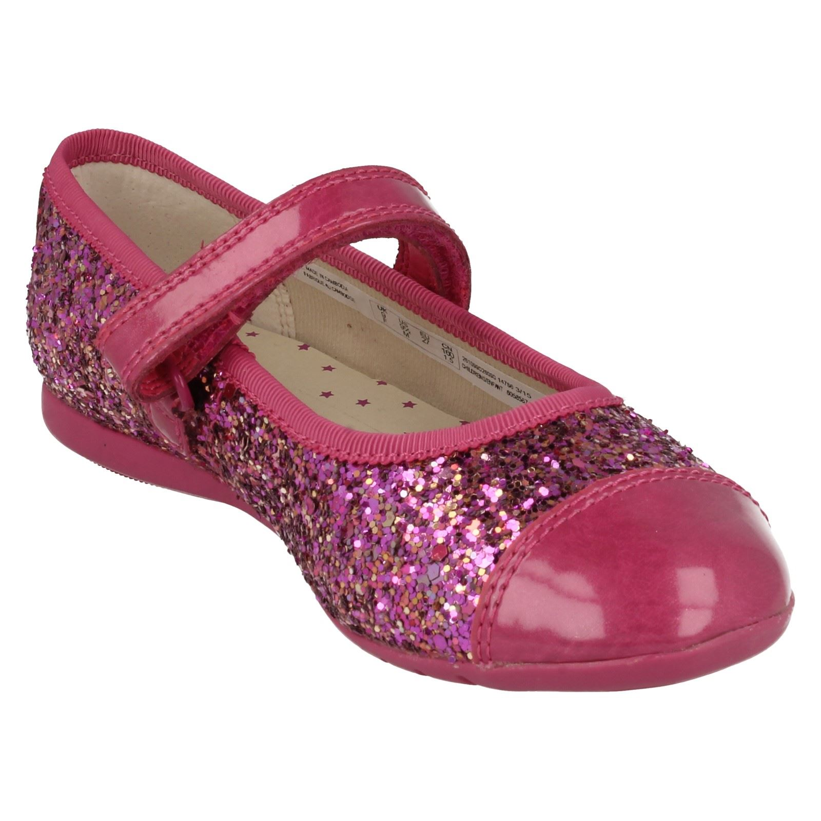Clarks Girls Sparkly Glitter Mary Jane Party Shoes Dance Idol