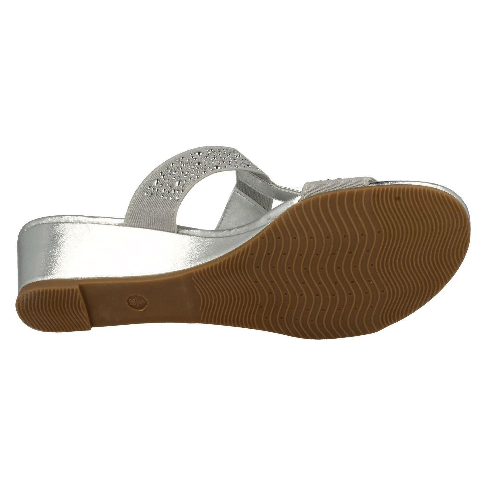 Ladies Savannah Casual Heeled Mule Sandals