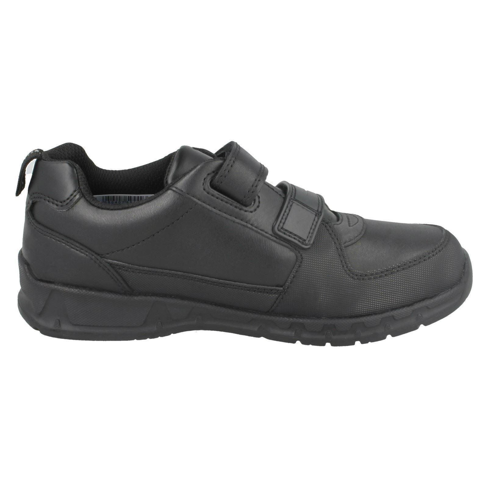 Gloforms By Clarks Boys Double Strap School Shoes Maris Fire