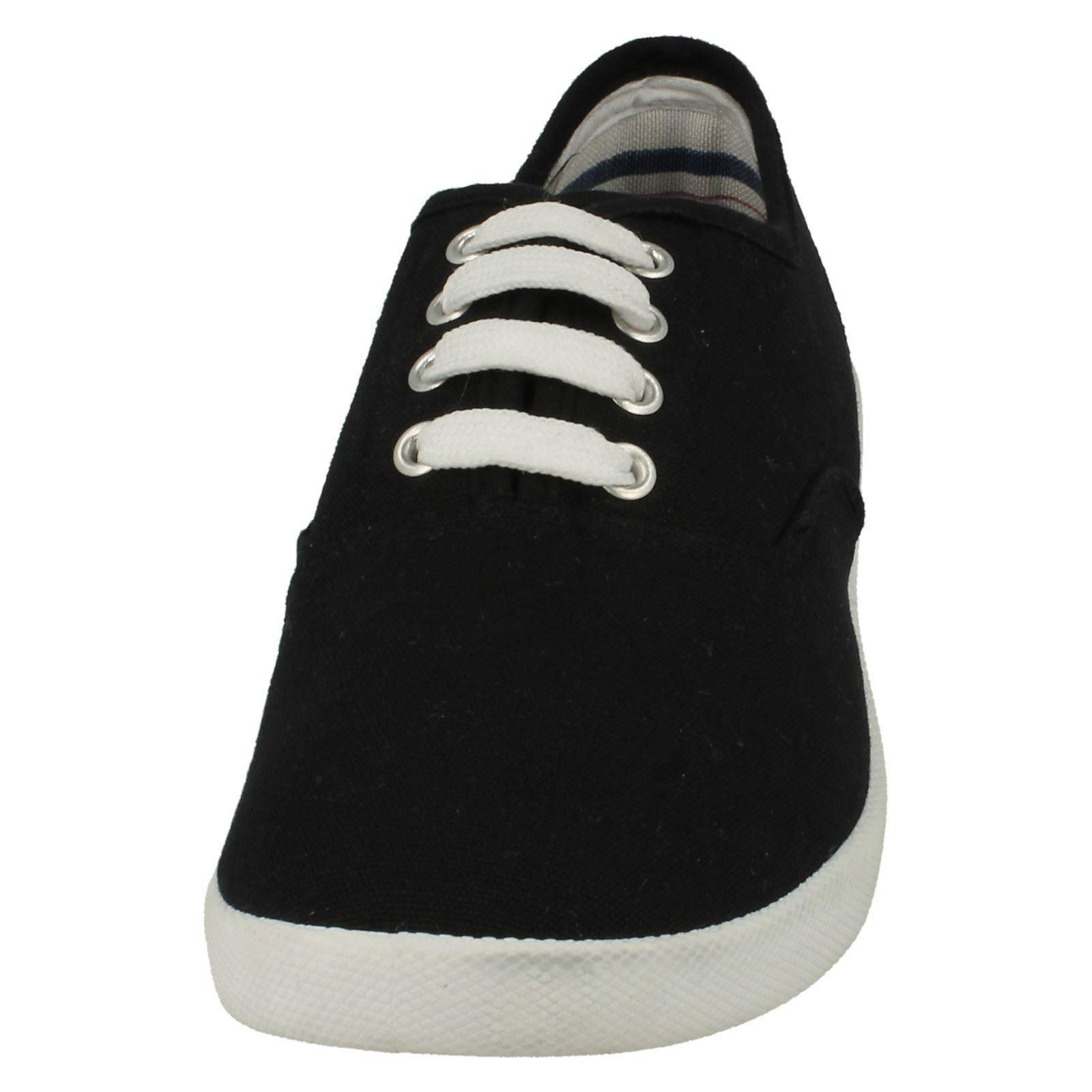 Spot On Zapatos de cuña de Lona Dama