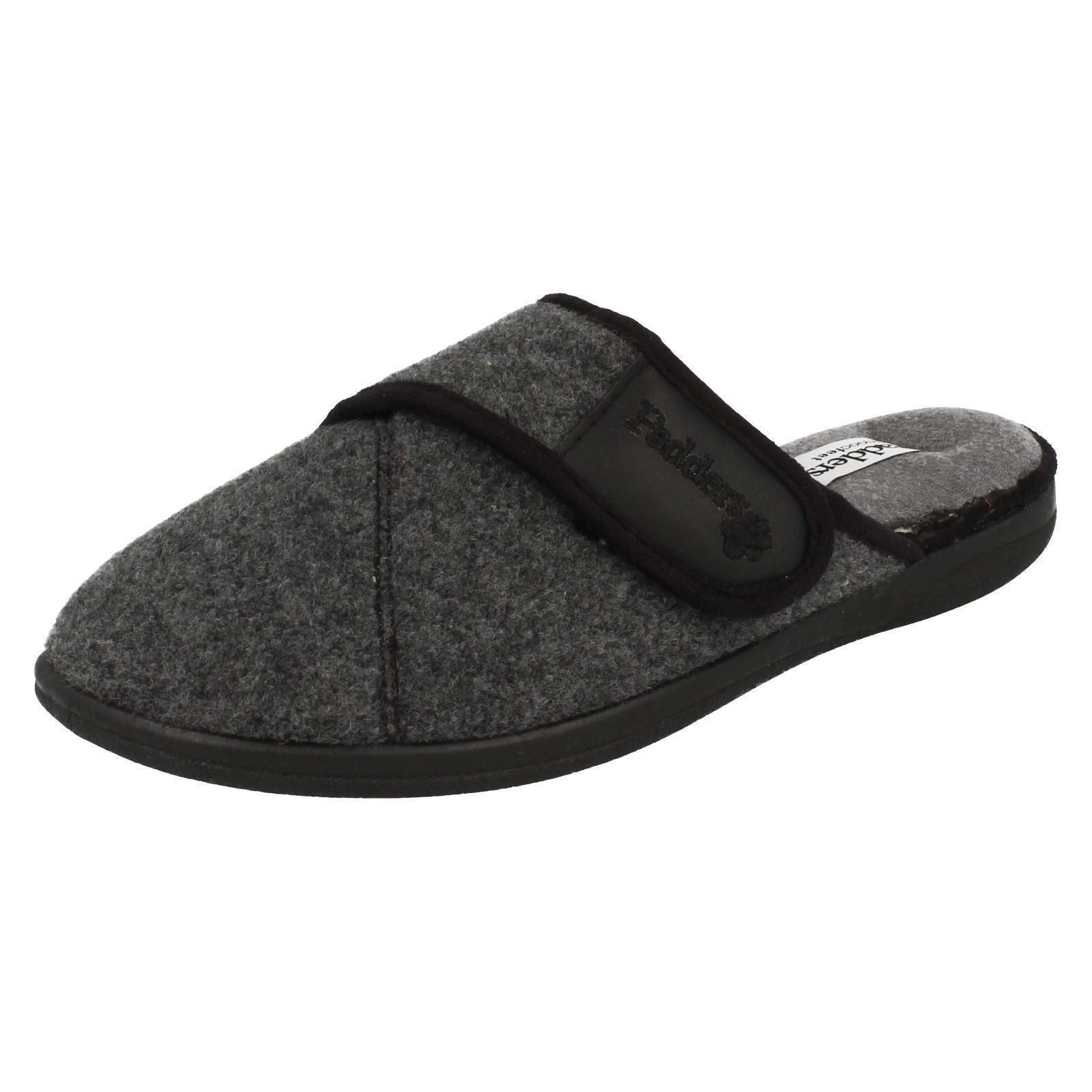 'Mens Padders' Rounded Toe Slip On Memory Foam Mule Slippers - Baxter