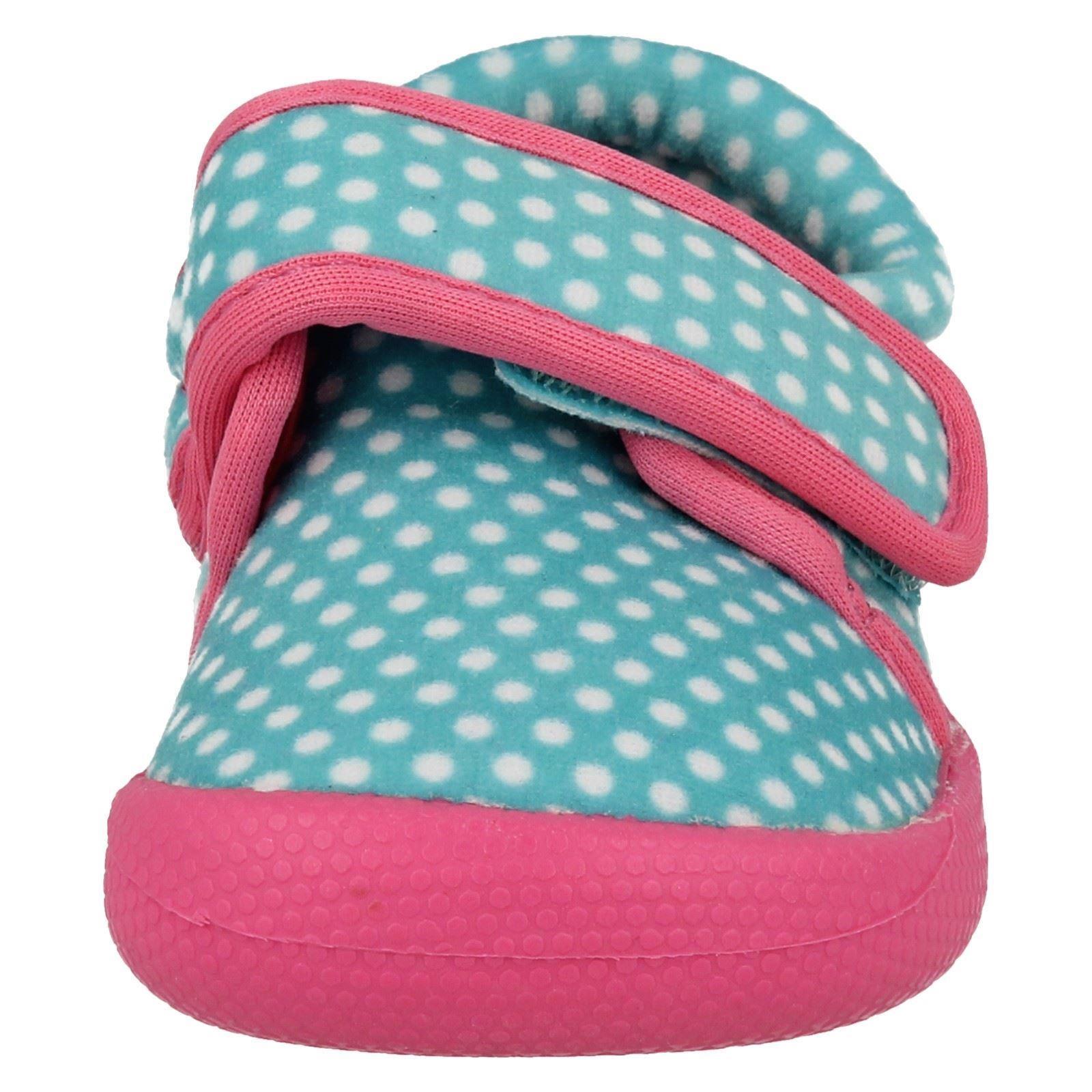 Infantil Chicas Clarks Máquina Lavable Pantuflas Shilo Dotty