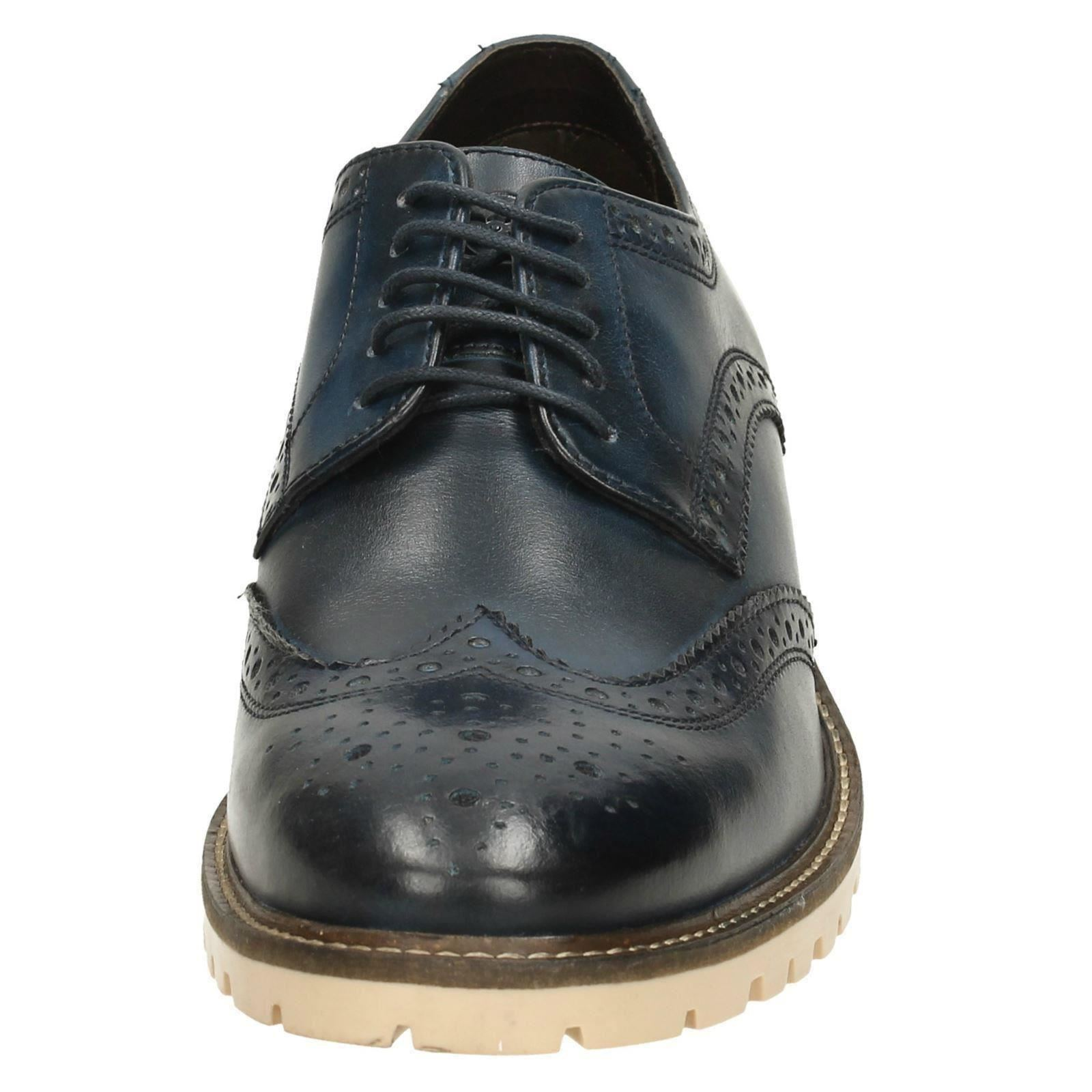 Hombre Base London Formal Lace Up Chunky Chunky Chunky Brogue Zapatos - Raid 4eaf54