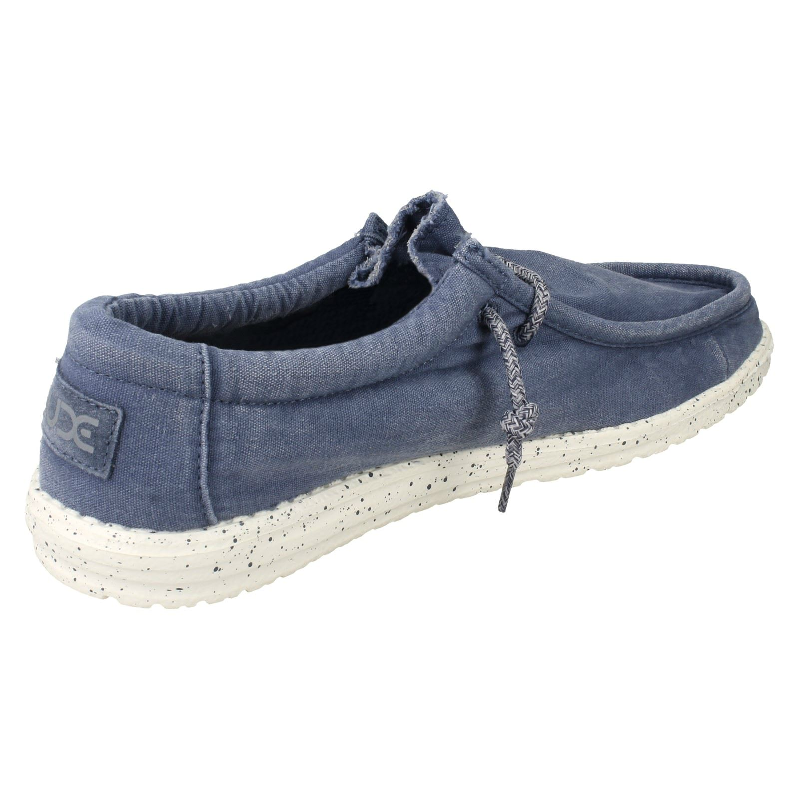 Mens Hey Shoes Dude Wally Washed Moccasin Shoes Hey e0443a
