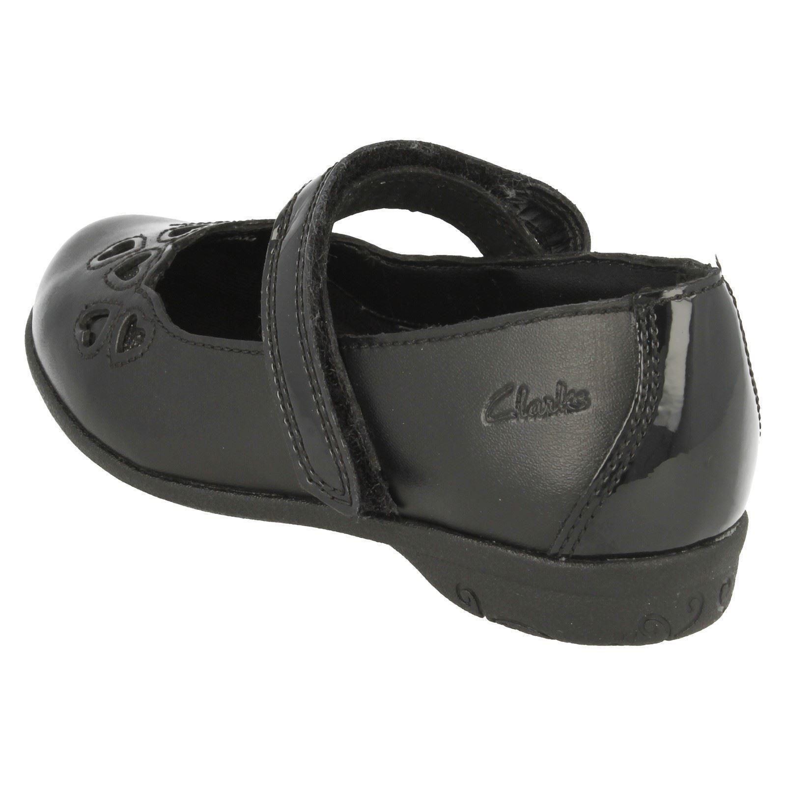 Mimi Clarks cuero Zapatillas Orra escolares de de negro BPwOvq0