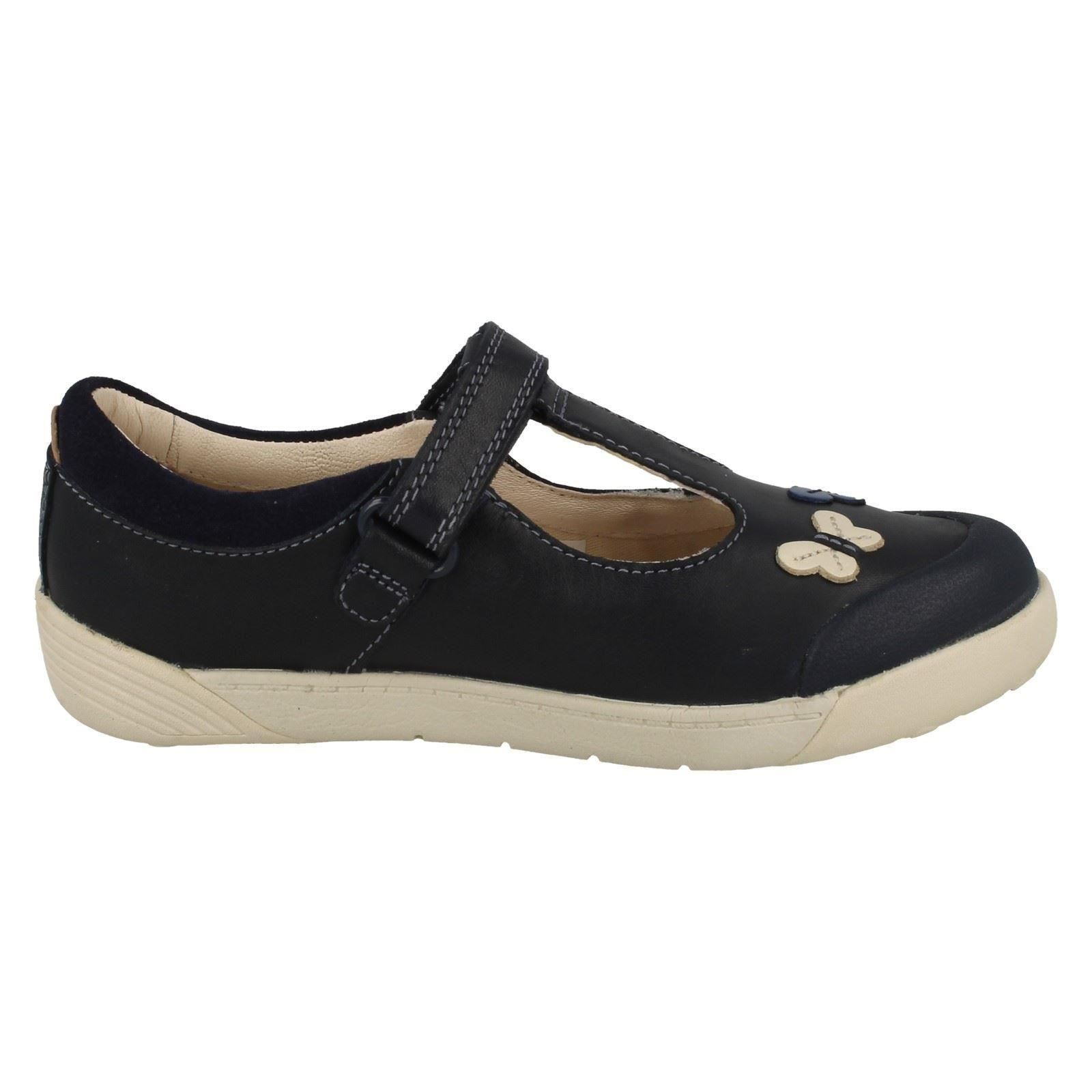 Chicas Clarks Zapatos lilfolk Flo T-Bar