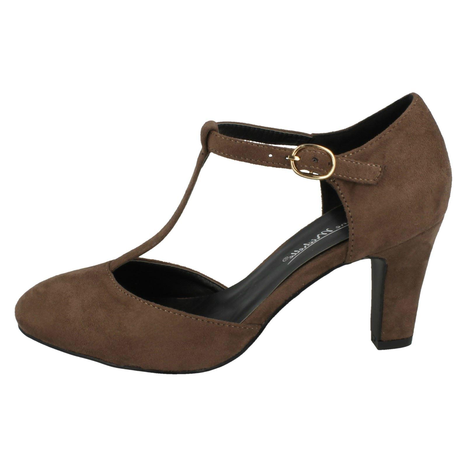 Ladies-Anne-Michelle-T-Bar-Smart-Shoes thumbnail 39