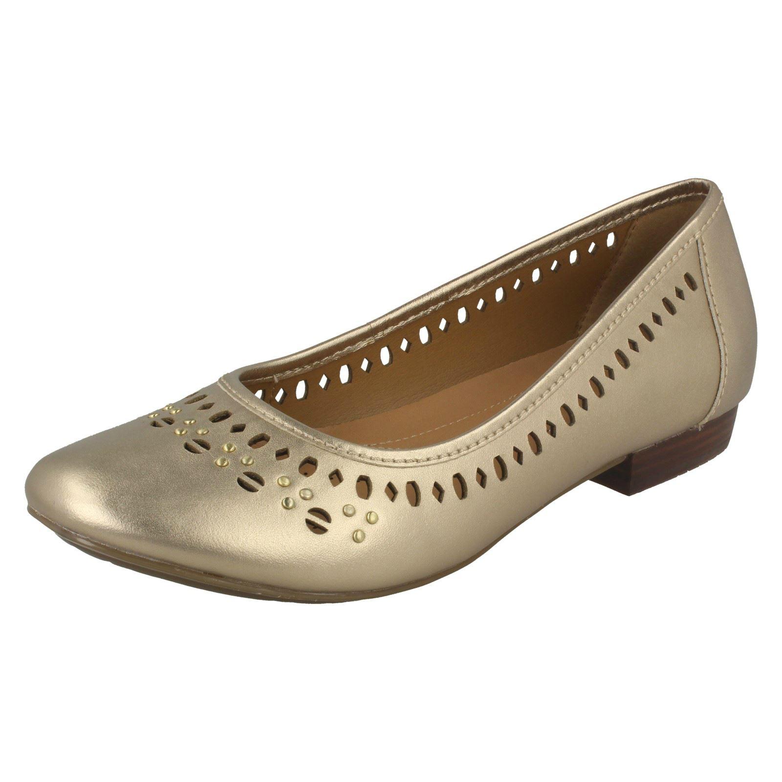Damen Clarks Henderson Heiß Flach Ballett Stil Schuhe       2f220c