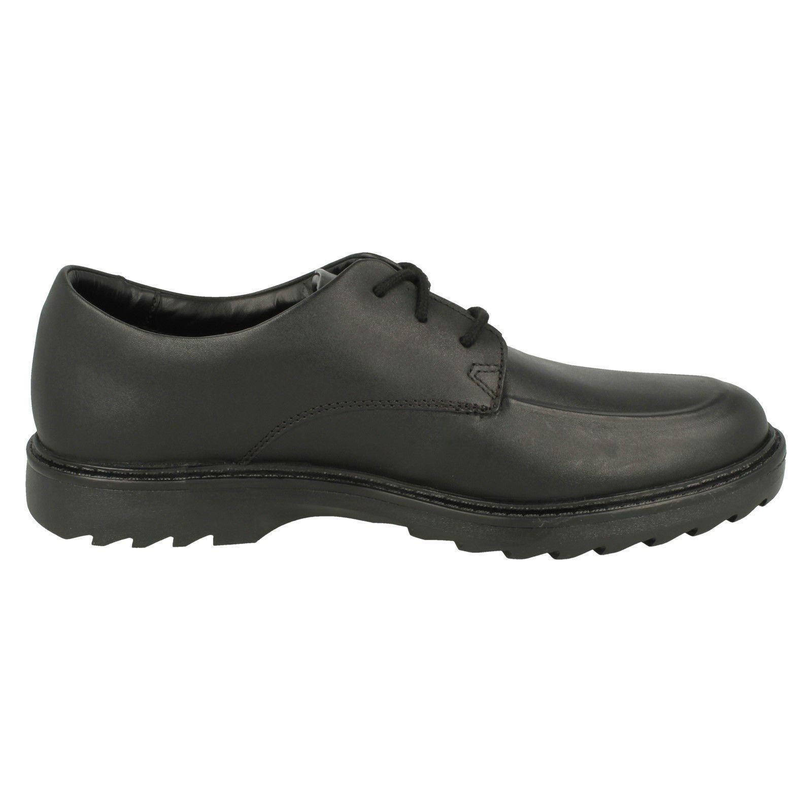 'asher negros cordones con de Zapatos Clarks Grove' Clarks formales niño xqX7f0Hzw