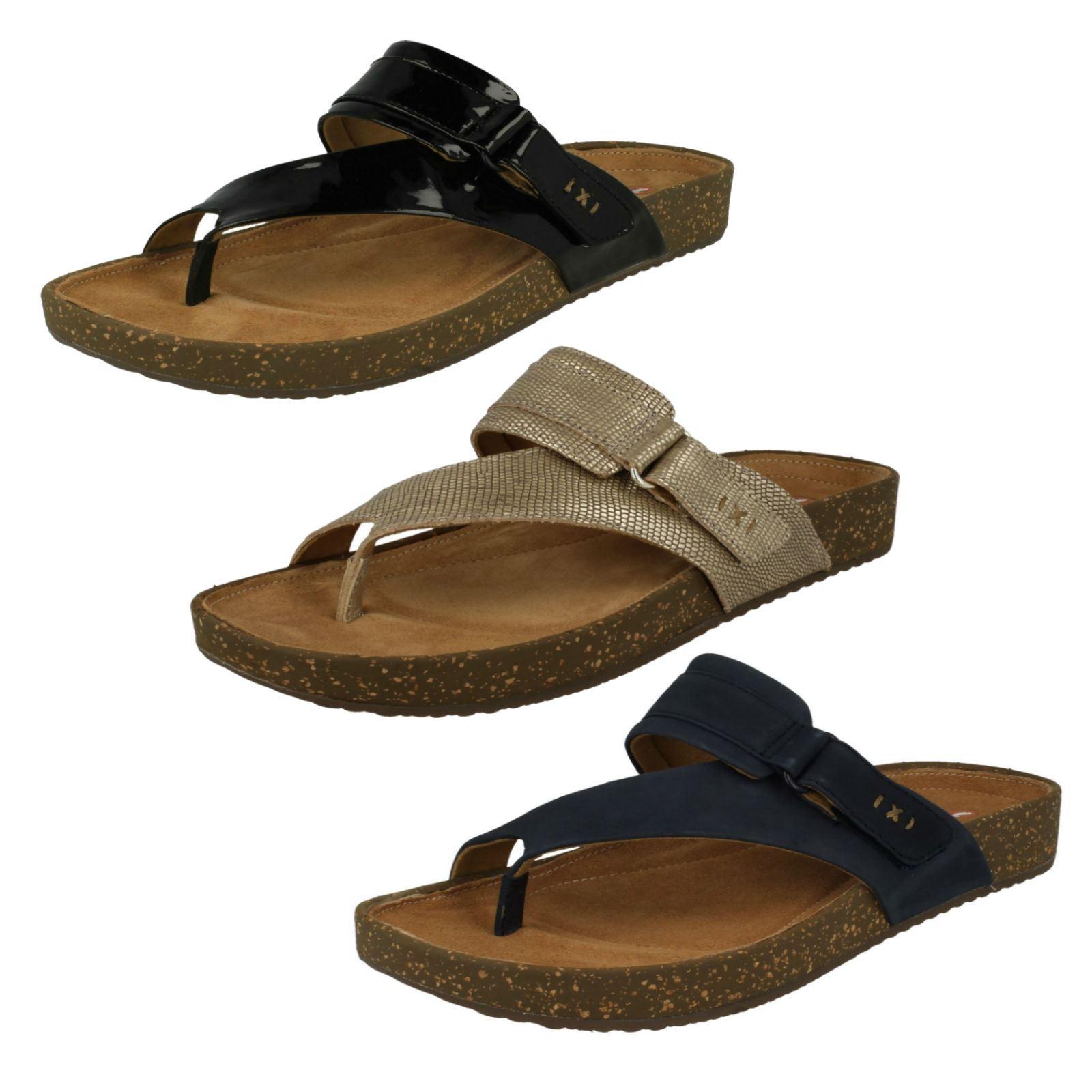 c08223b7bd7 Details about Ladies Clarks Rosilla Durham Flip Flop Sandals
