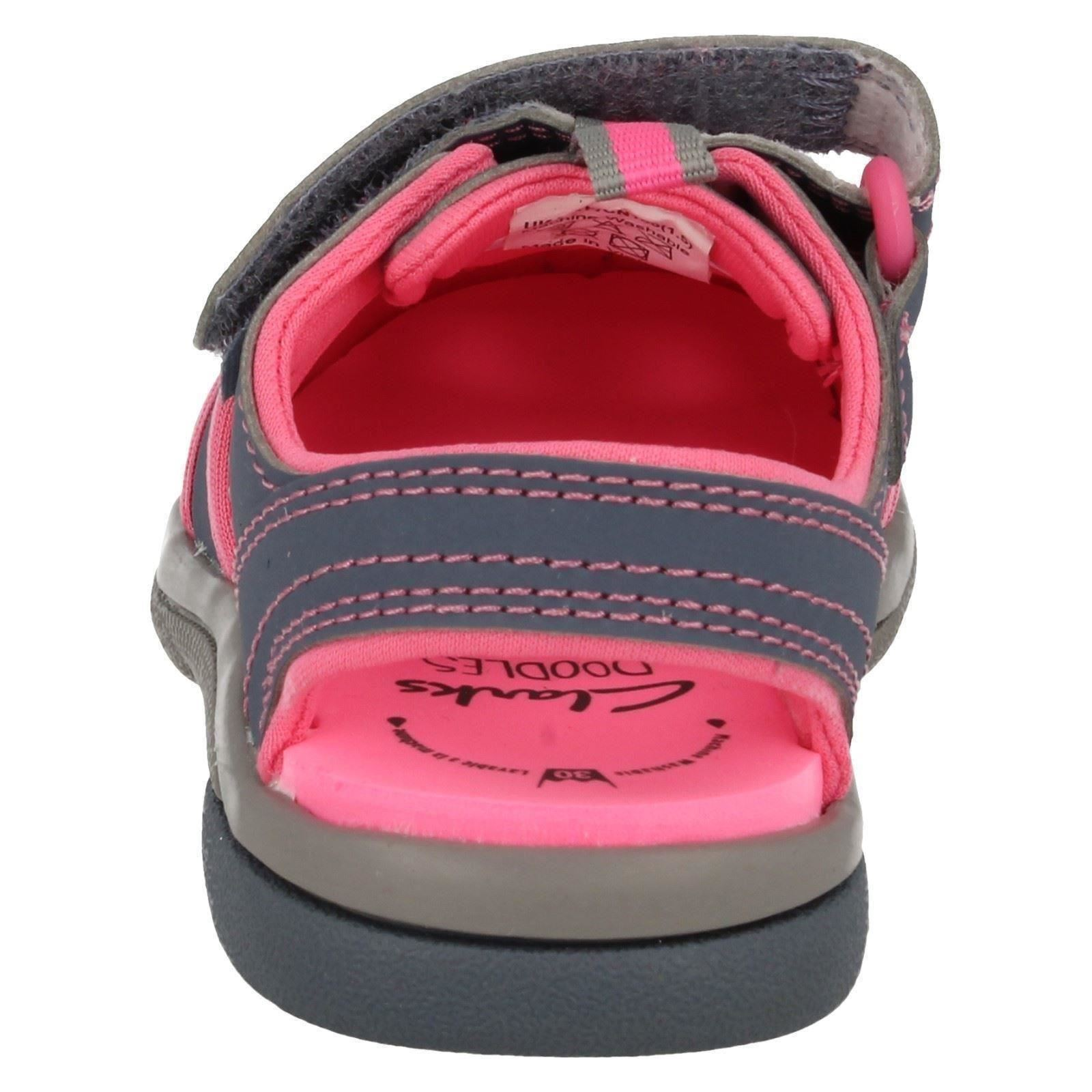 Infant Baby Toddler Clarks Closed Toe Hook & Loop Sandals / Shoes - Beach Tide