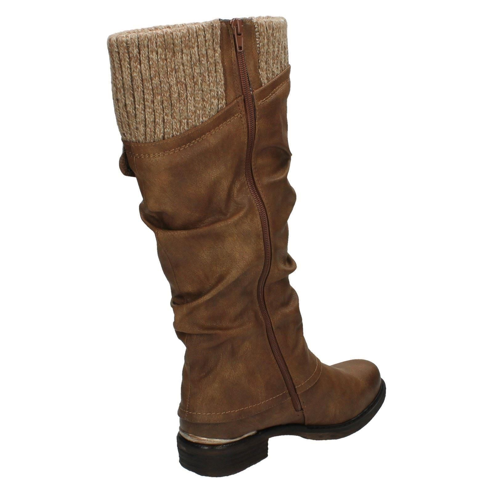 Weather Ladies Brown Rieker Boots Long All 98956 YExZrqnUEw
